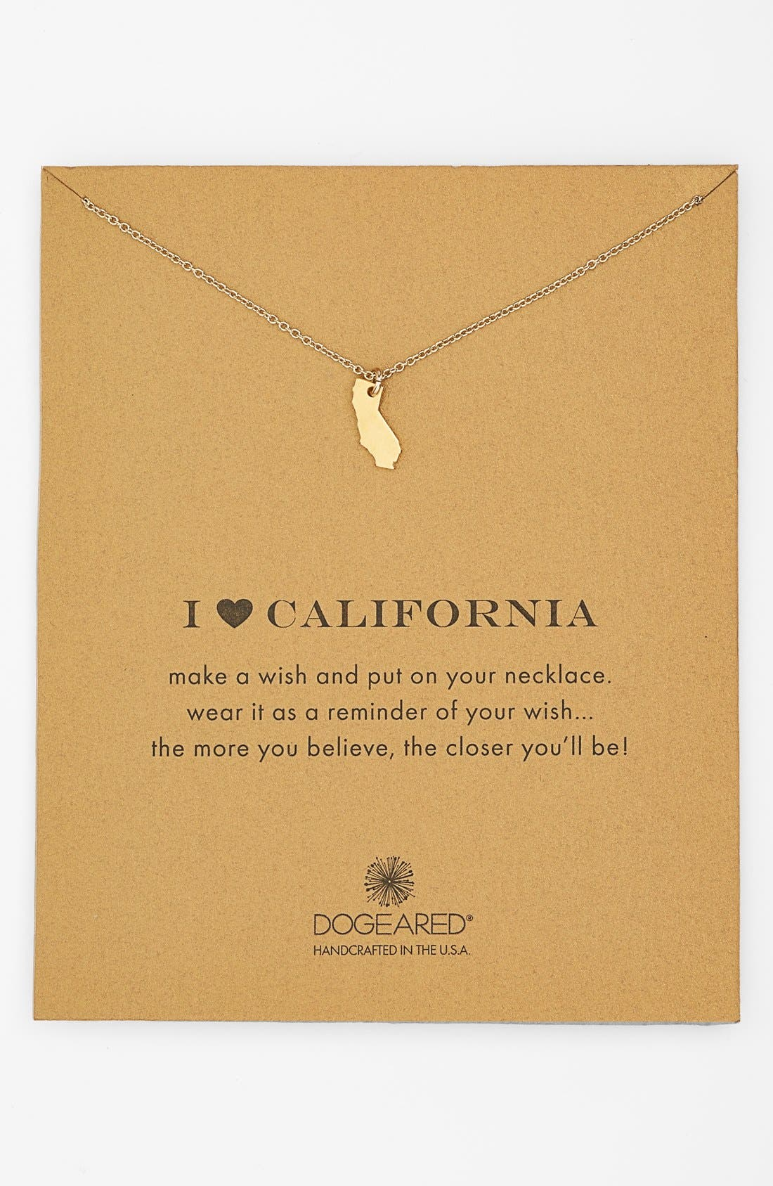 Alternate Image 1 Selected - Dogeared 'Reminder - I Heart California' Pendant Necklace