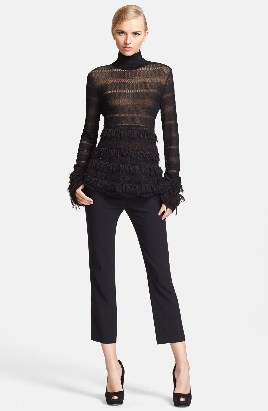 Alternate Image 4  - Alexander McQueen Velvet & Grain de Poudre Crop Pants