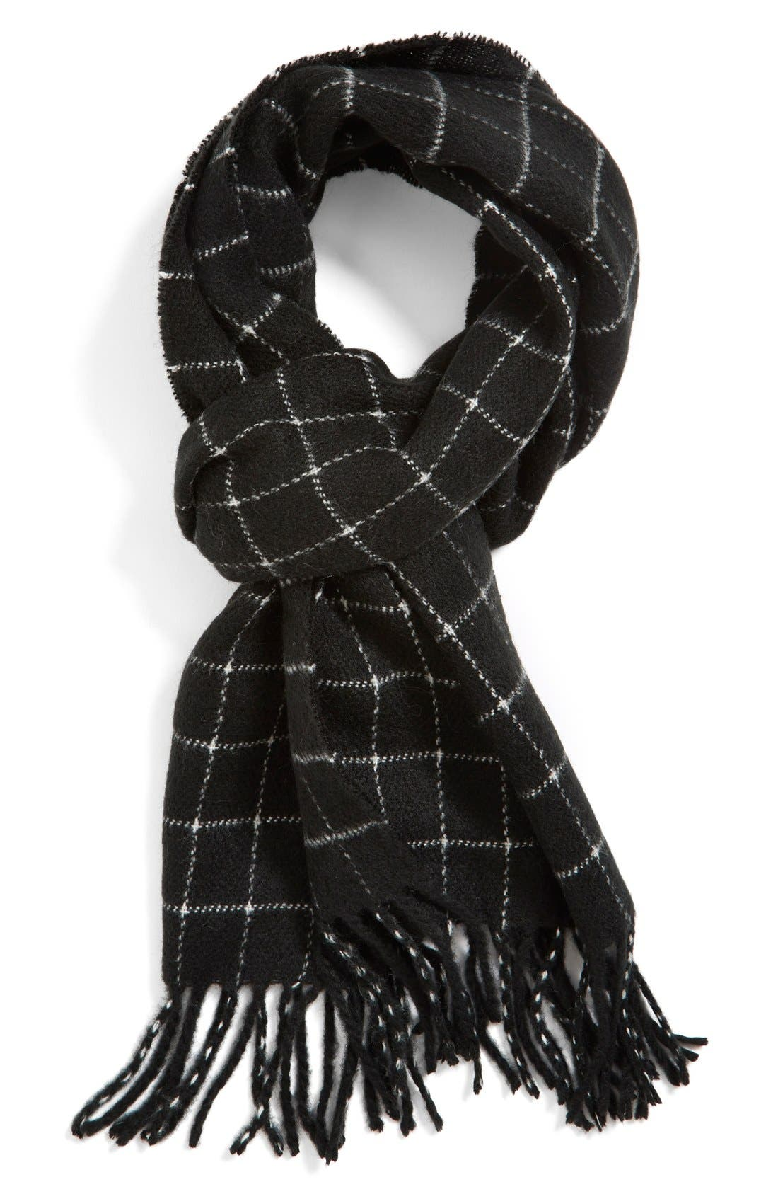 Alternate Image 1 Selected - The Rail Windowpane Knit Scarf