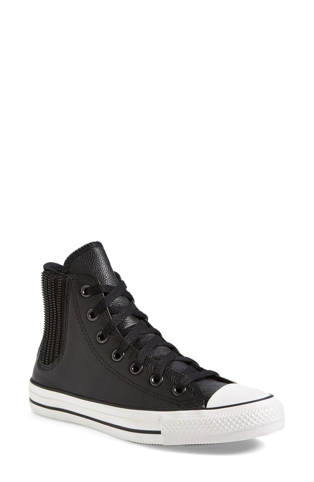 Main Image - Converse Chuck Taylor® All Star® 'Chelsee' Leather Sneaker (Women) (Nordstrom Exclusive)
