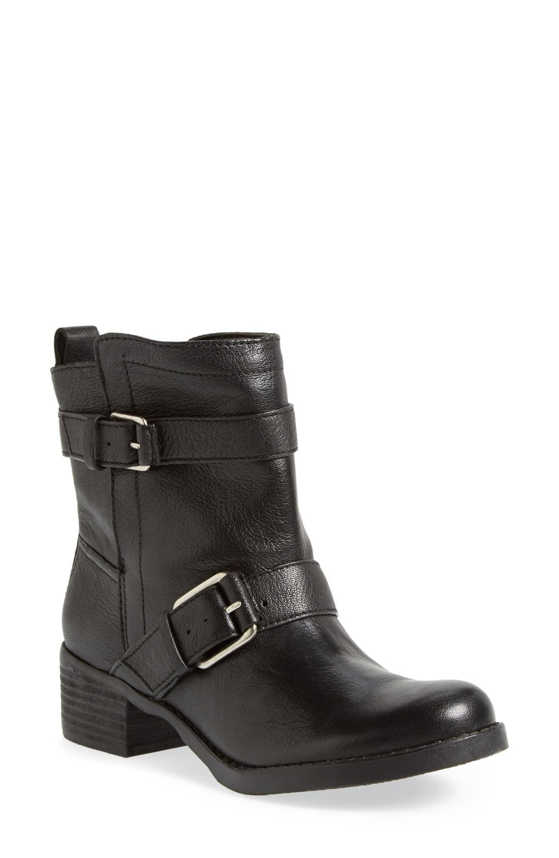 Main Image - Sole Society 'Kai' Suede Moto Boot (Women)