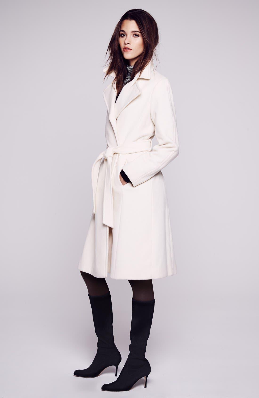 Alternate Image 5  - Lauren Ralph Lauren Wool Blend Wrap Coat (Regular & Petite) (Online Only)