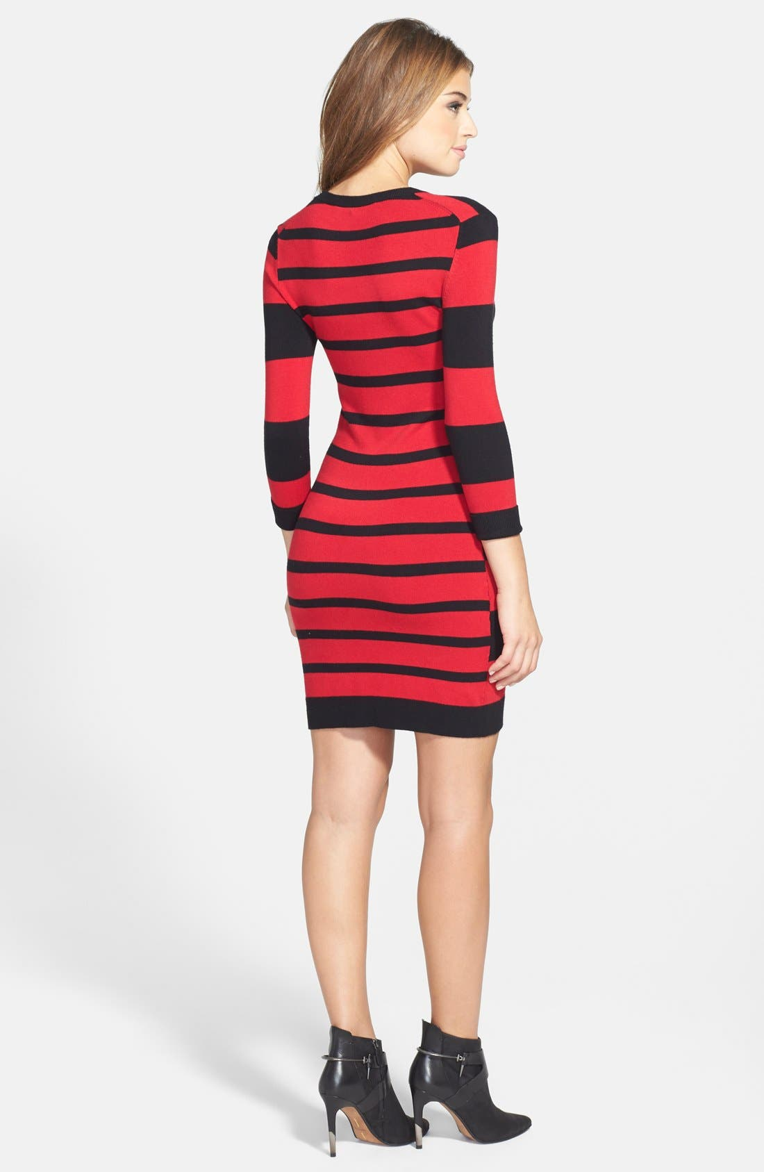 Alternate Image 2  - French Connection Stripe Sweater Dress