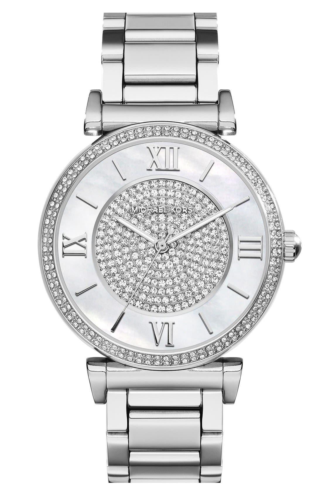 Alternate Image 1 Selected - Michael Kors 'Caitlin' Crystal Dial Bracelet Watch, 38mm