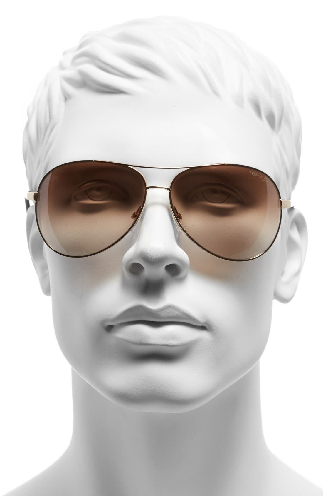 Alternate Image 2  - Tom Ford 'Charles' 62mm Aviator Sunglasses