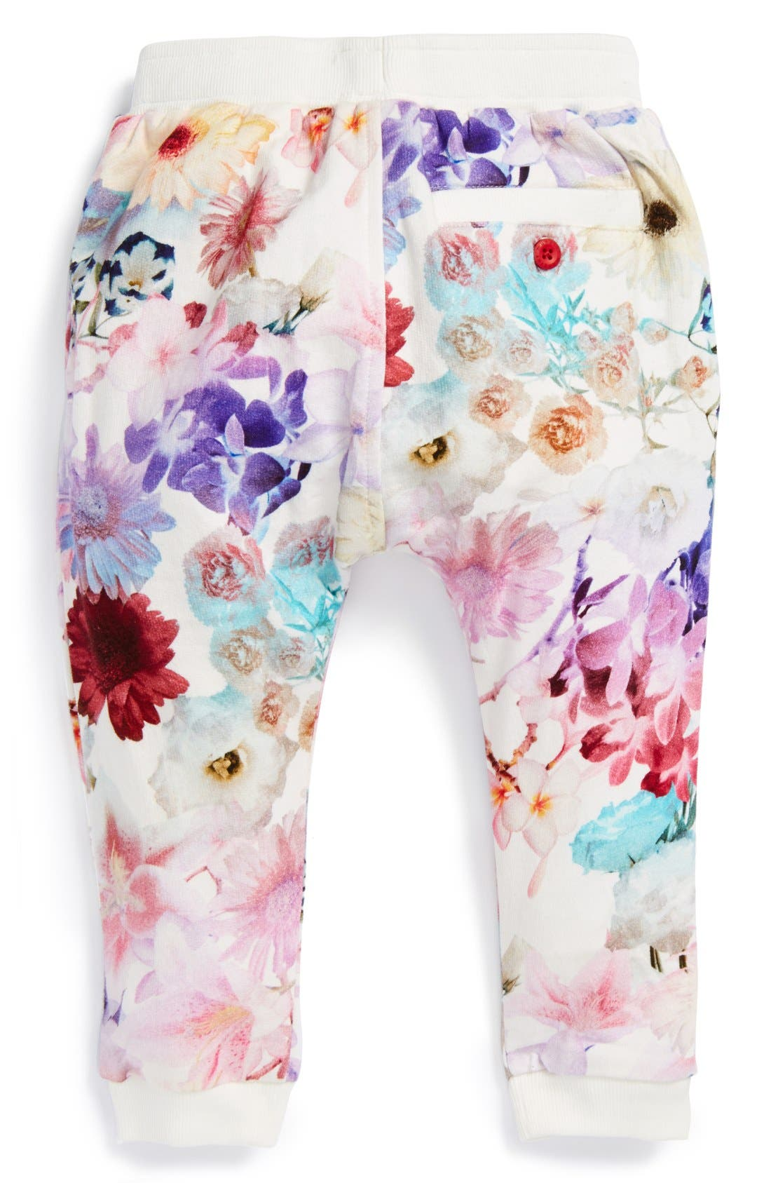 Alternate Image 2  - Munsterkids 'Flower Child' Cotton Track Pants (Little Girls)