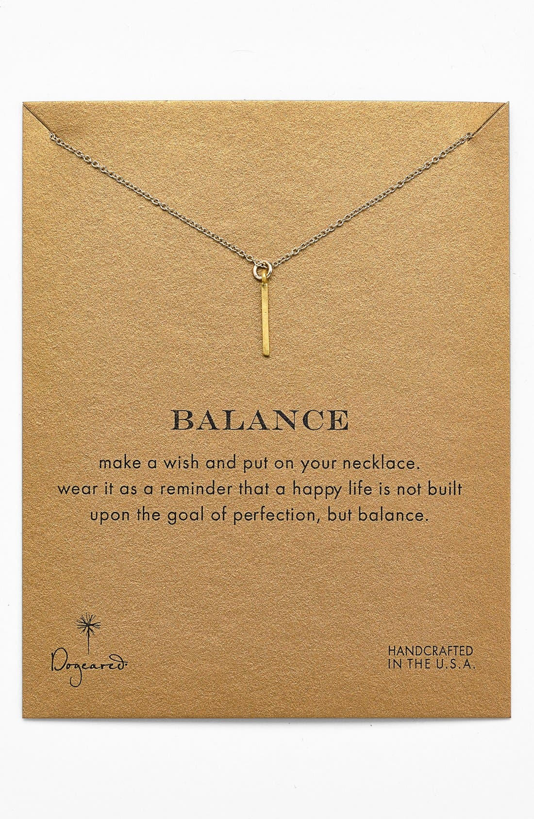 Alternate Image 1 Selected - Dogeared 'Reminder - Balance' Boxed Pendant Necklace