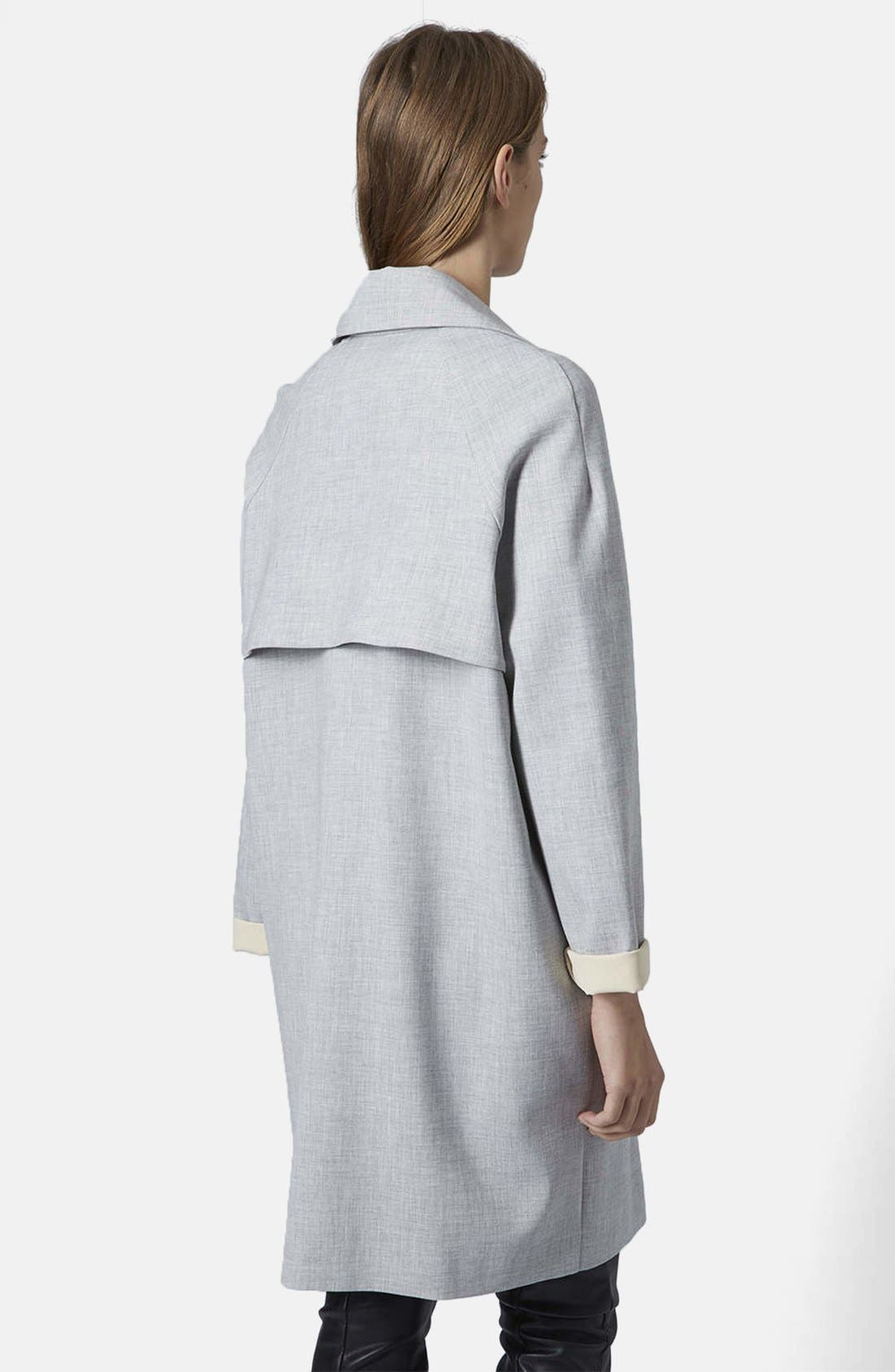 Alternate Image 2  - Topshop Soft Bonded Trench Coat