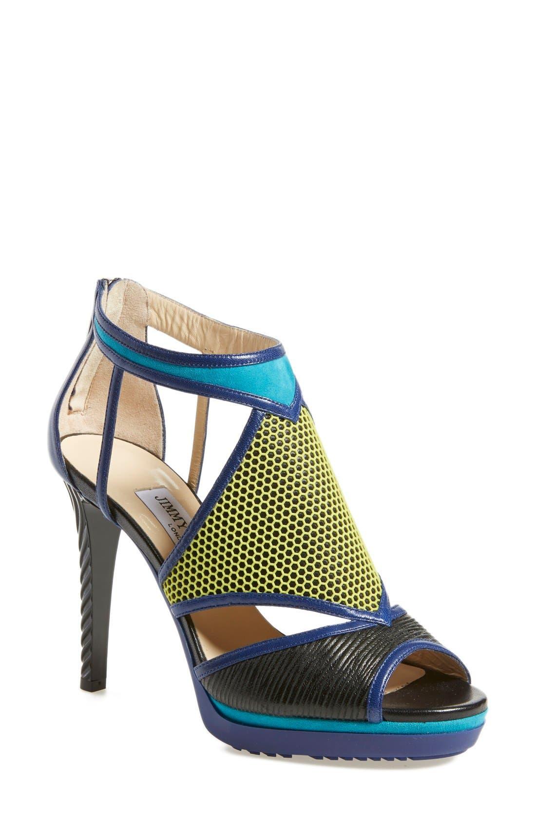 Alternate Image 1 Selected - Jimmy Choo 'Lythe' Honeycomb Sandal (Women)