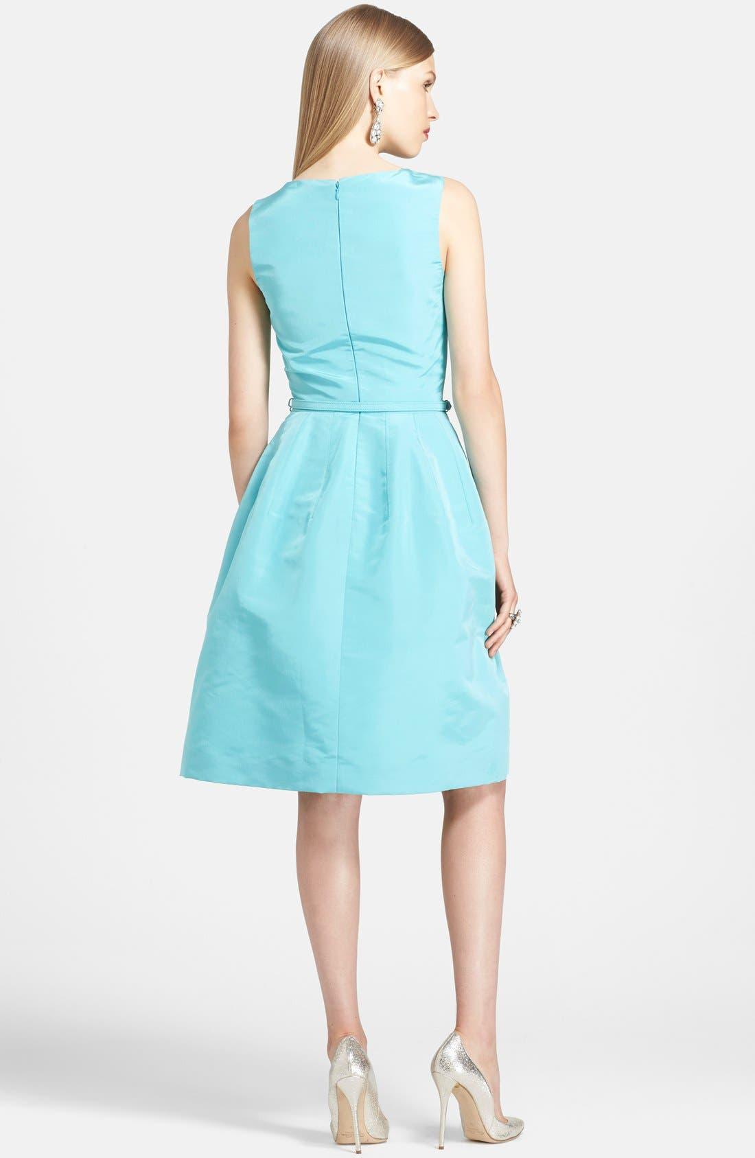 Alternate Image 2  - Oscar de la Renta Silk Fit & Flare Dress