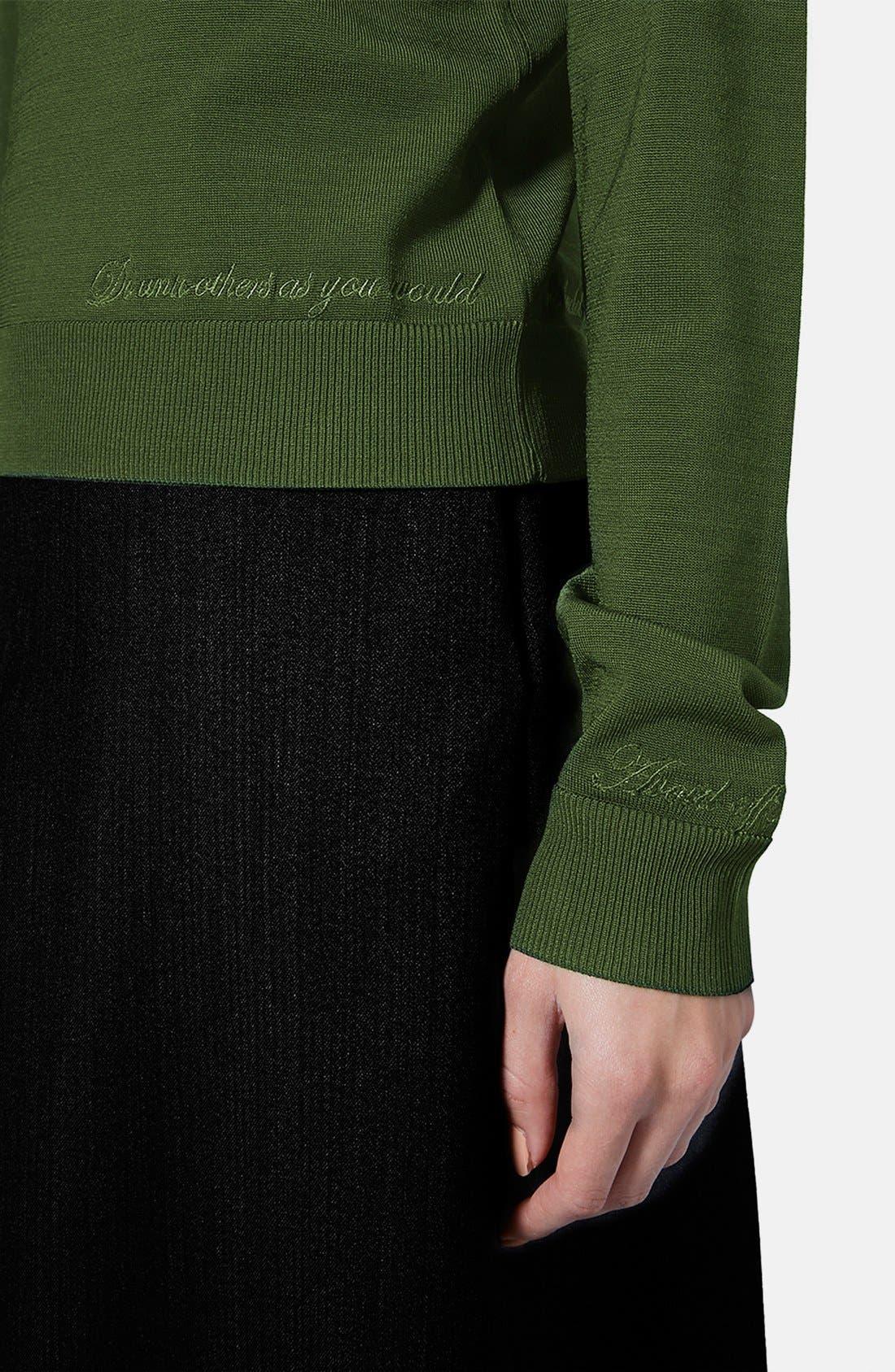 Alternate Image 4  - Topshop Unique Long Sleeve V-Neck Sweater