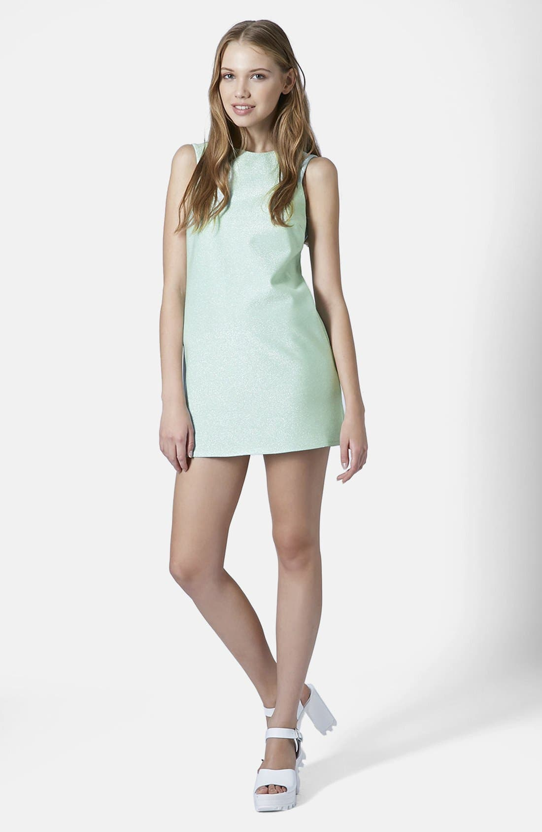 Alternate Image 4  - Topshop Cutaway Shift Dress