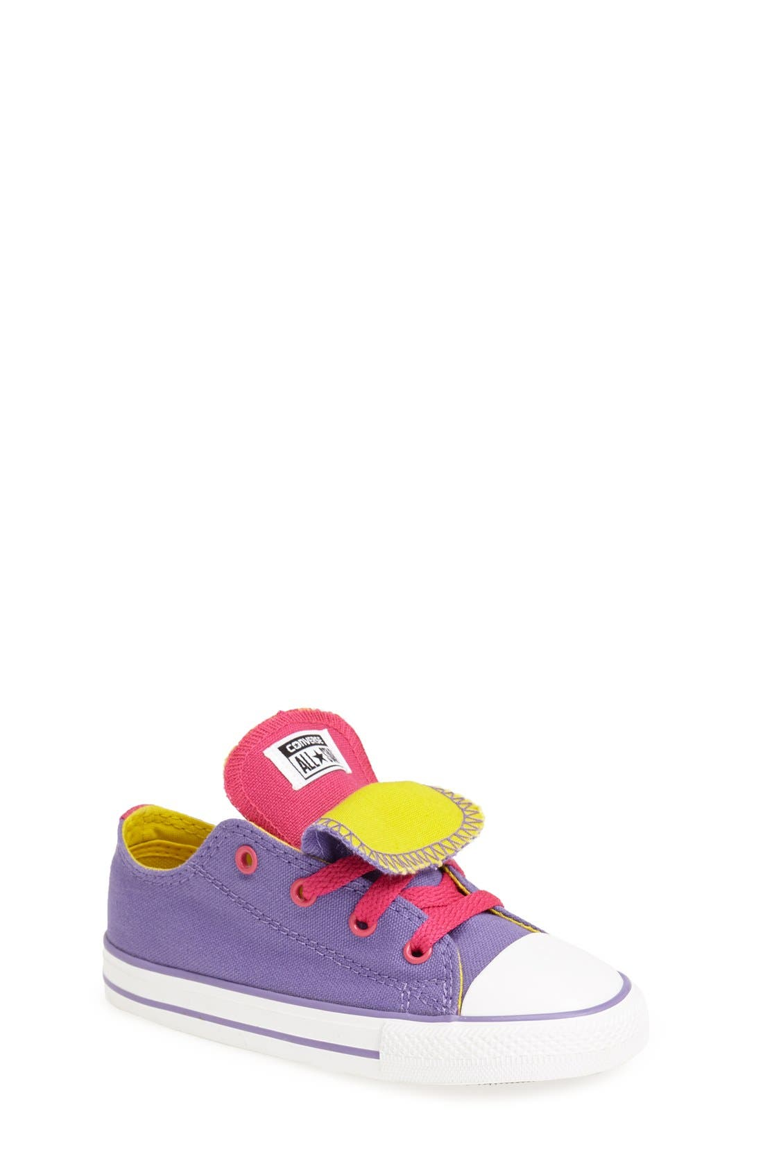 Alternate Image 1 Selected - Converse Chuck Taylor® All Star® Double Tongue Sneaker (Baby, Walker & Toddler)