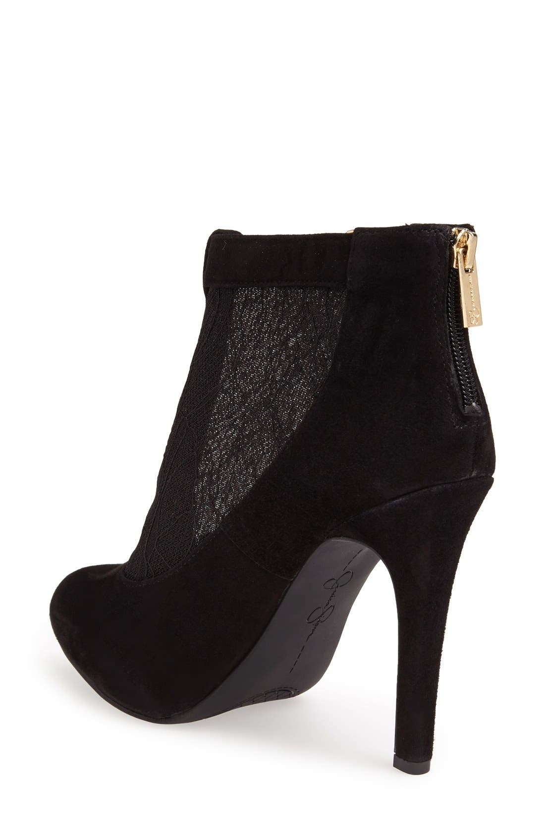 Alternate Image 2  - Jessica Simpson 'Shauna' Lace & Suede Bootie (Women)