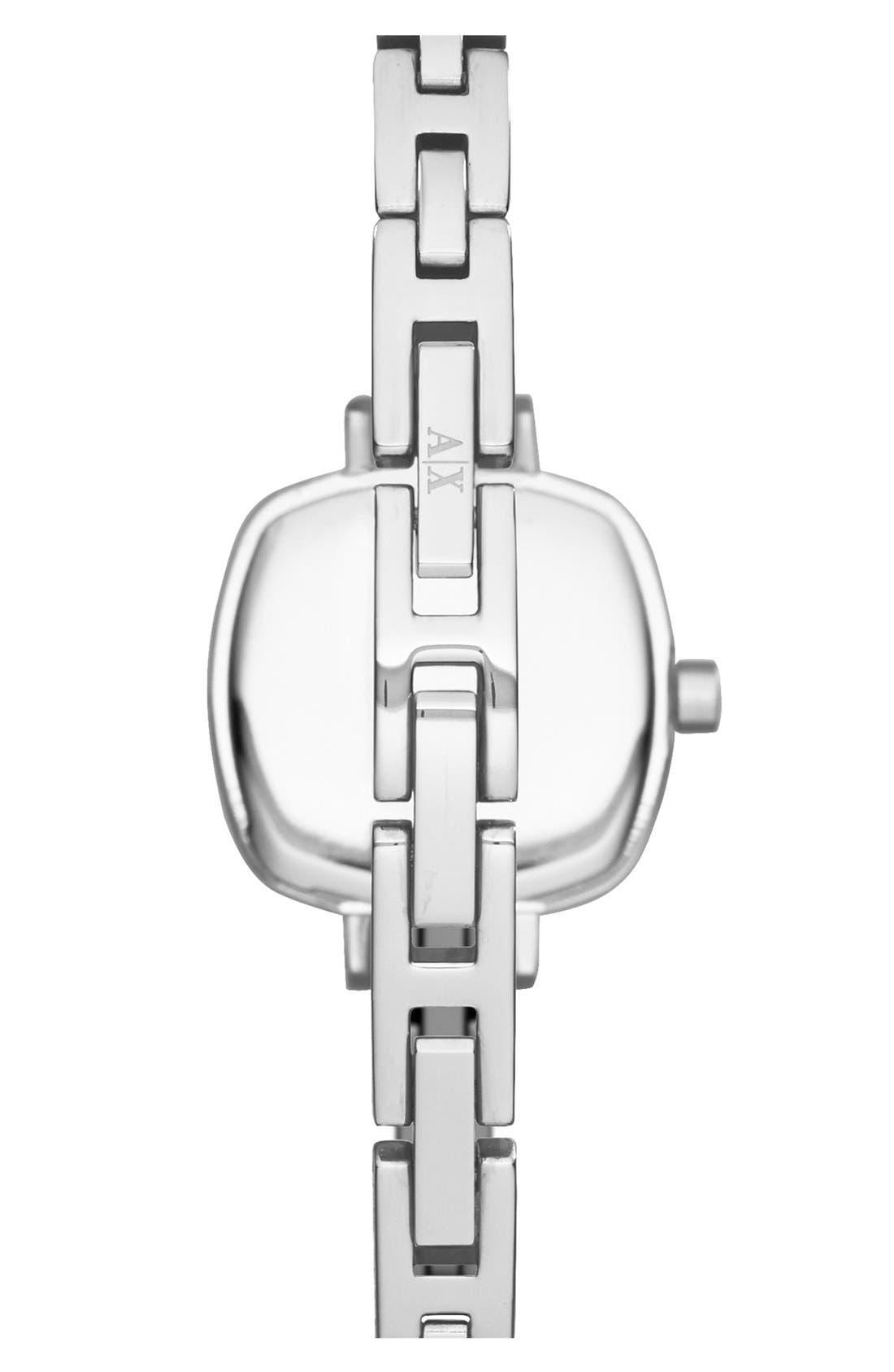 Alternate Image 2  - AX Armani Exchange Crystal Encrusted Bangle Watch, 22mm
