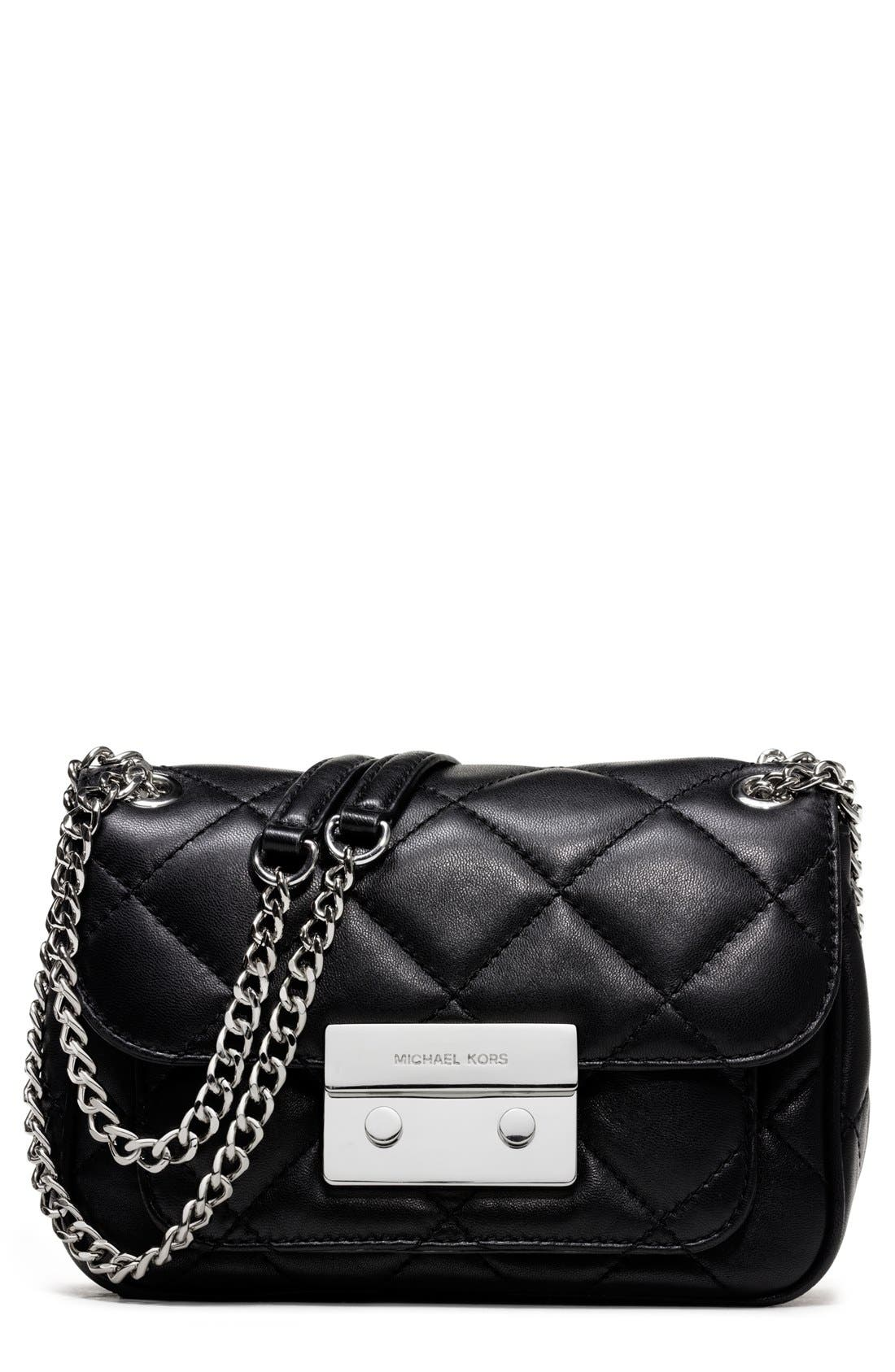 Alternate Image 1 Selected - MICHAEL Michael Kors 'Small Sloan' Quilted Leather Shoulder Bag
