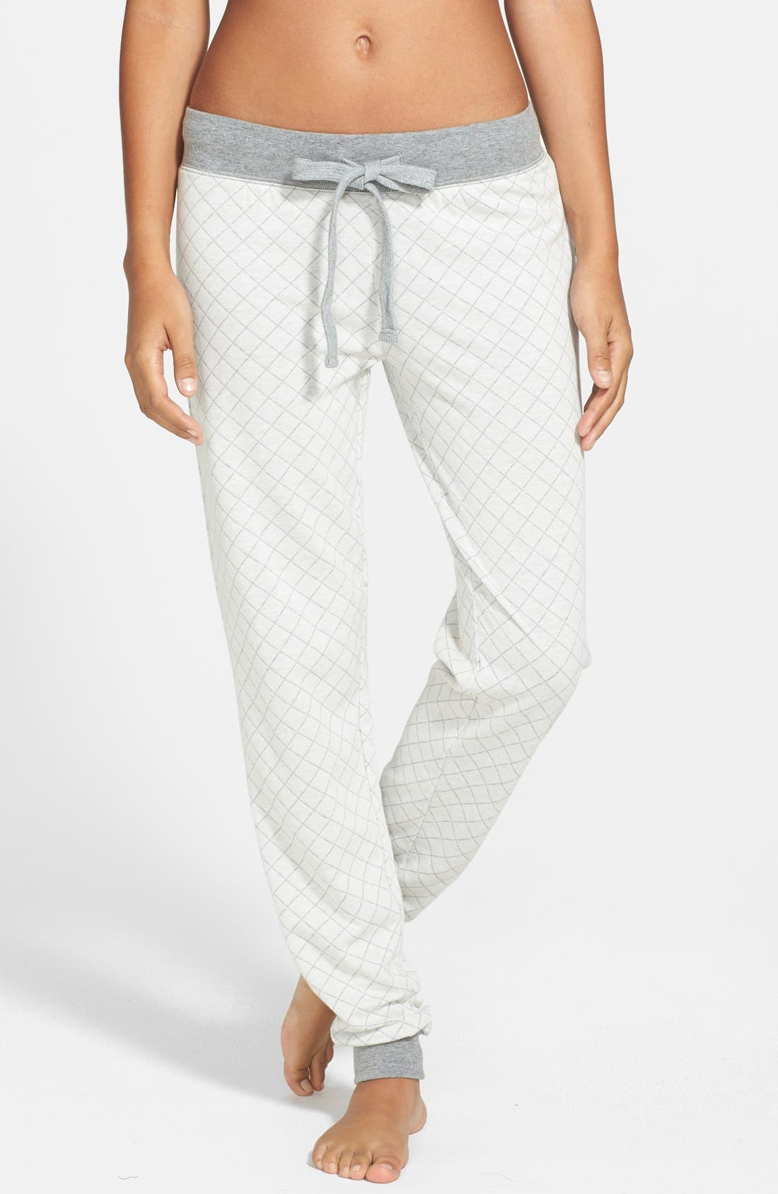 Alternate Image 1 Selected - PJ Salvage 'Home' Quilted French Terry Sweatpants
