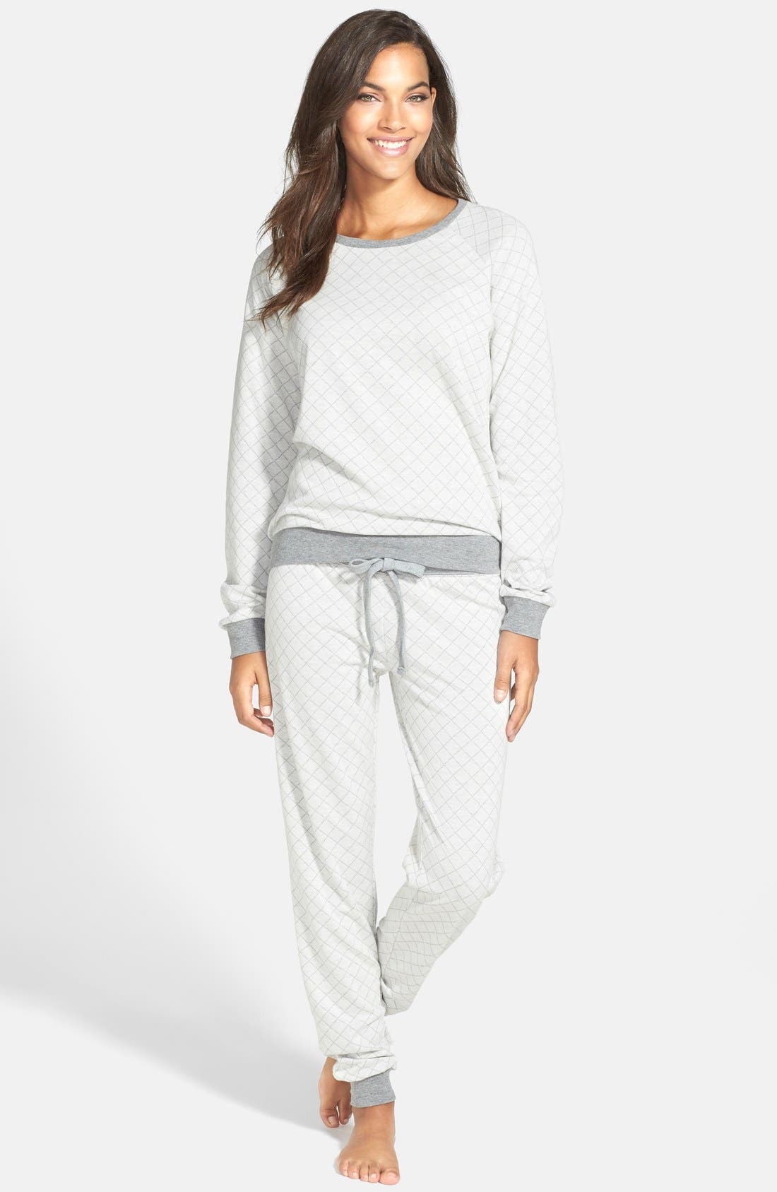 Alternate Image 2  - PJ Salvage 'Home' Quilted French Terry Sweatpants