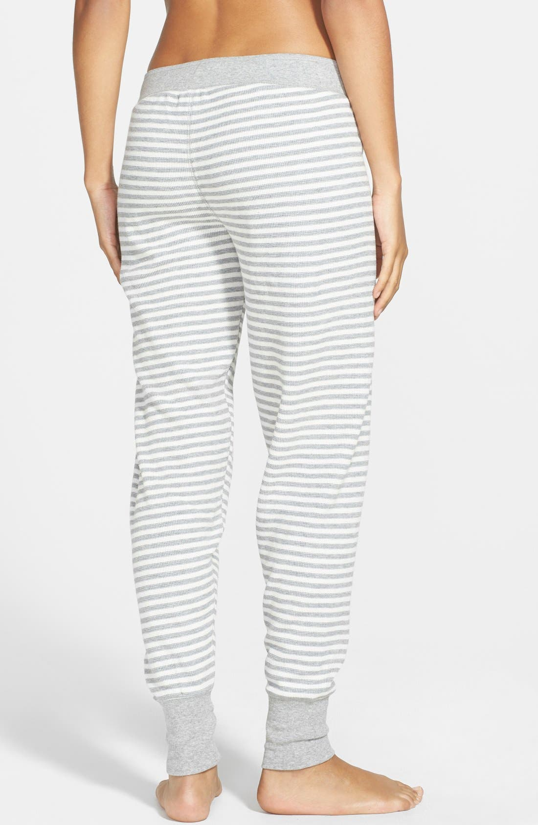 Alternate Image 2  - PJ Salvage 'Home' Stripe Thermal Jogger Pants