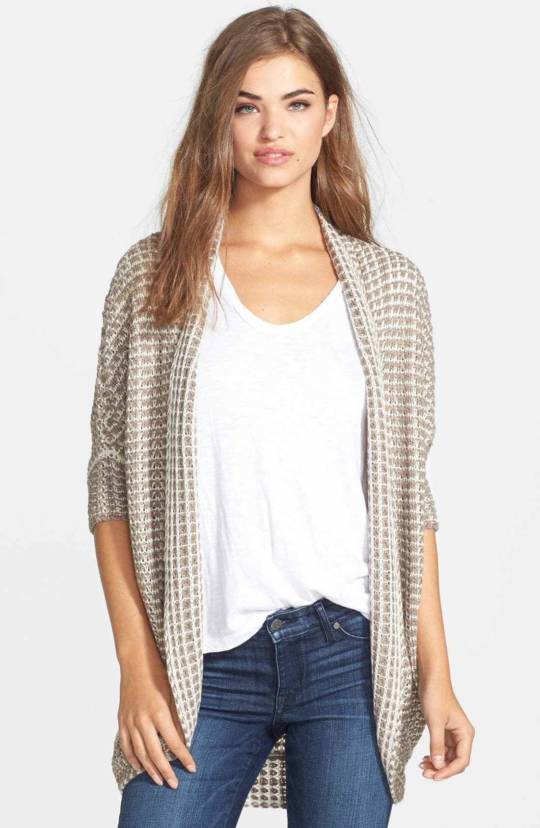 Alternate Image 1 Selected - RD Style Textured Dolman Sleeve Cardigan