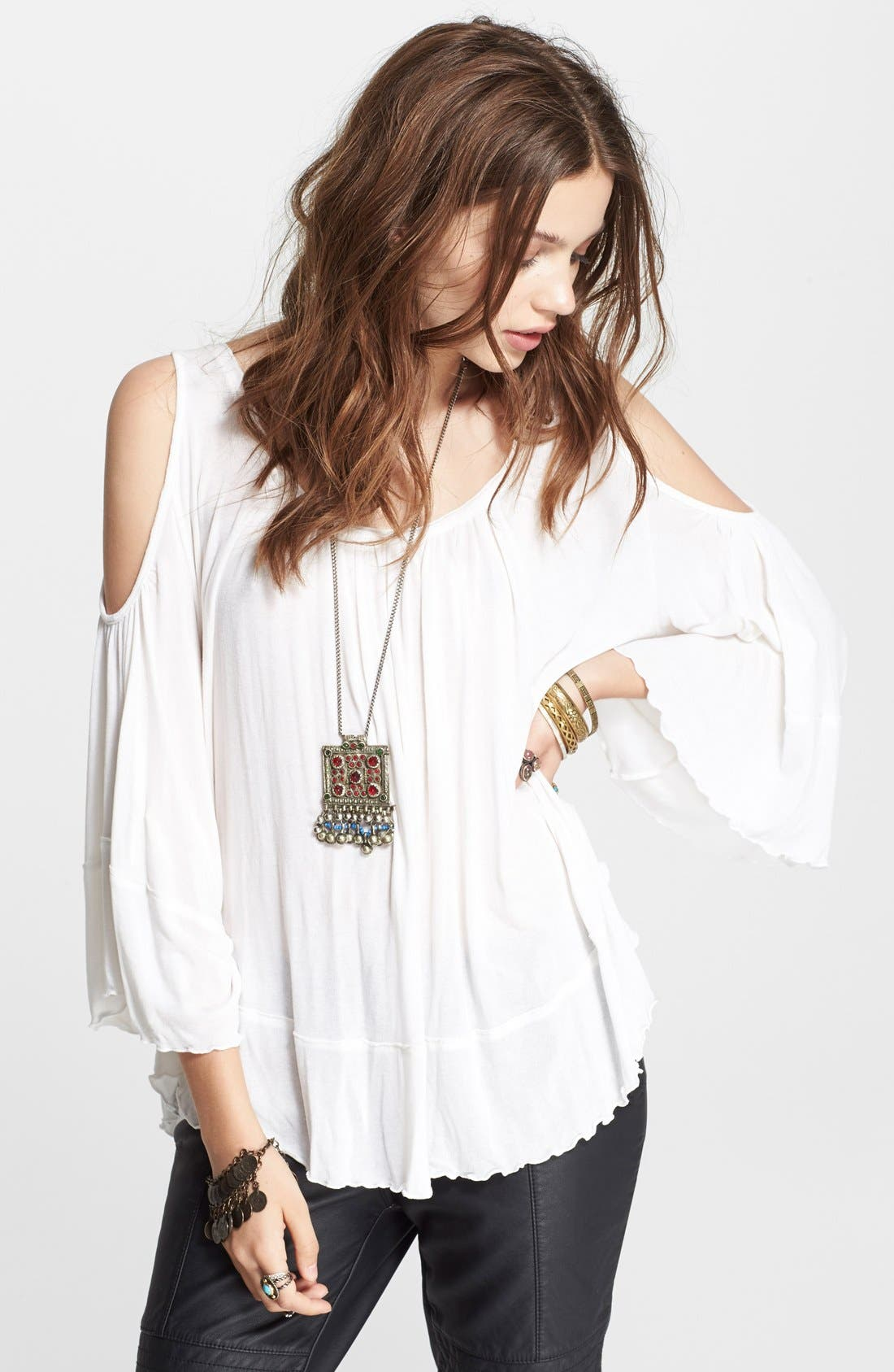 Main Image - Free People 'Chloe' Solid Blouse
