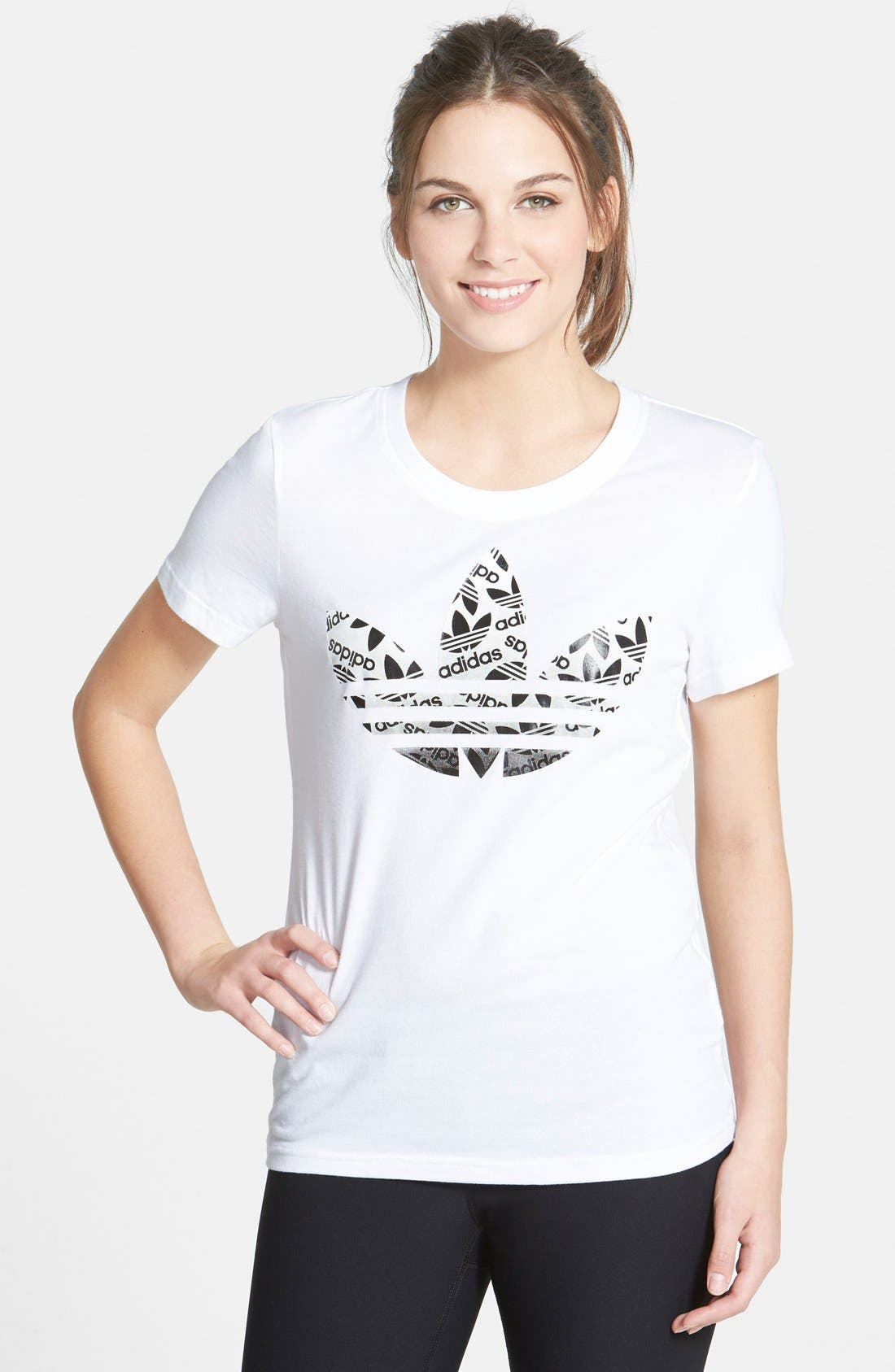 Alternate Image 1 Selected - adidas Trefoil Logo Short Sleeve Tee