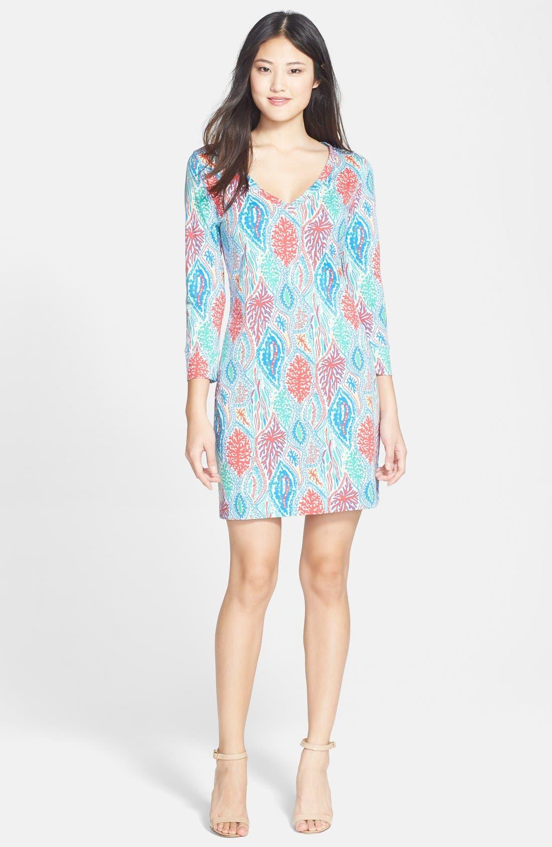 Alternate Image 3  - Lilly Pulitzer® 'Christie' Print V-Neck Shift Dress