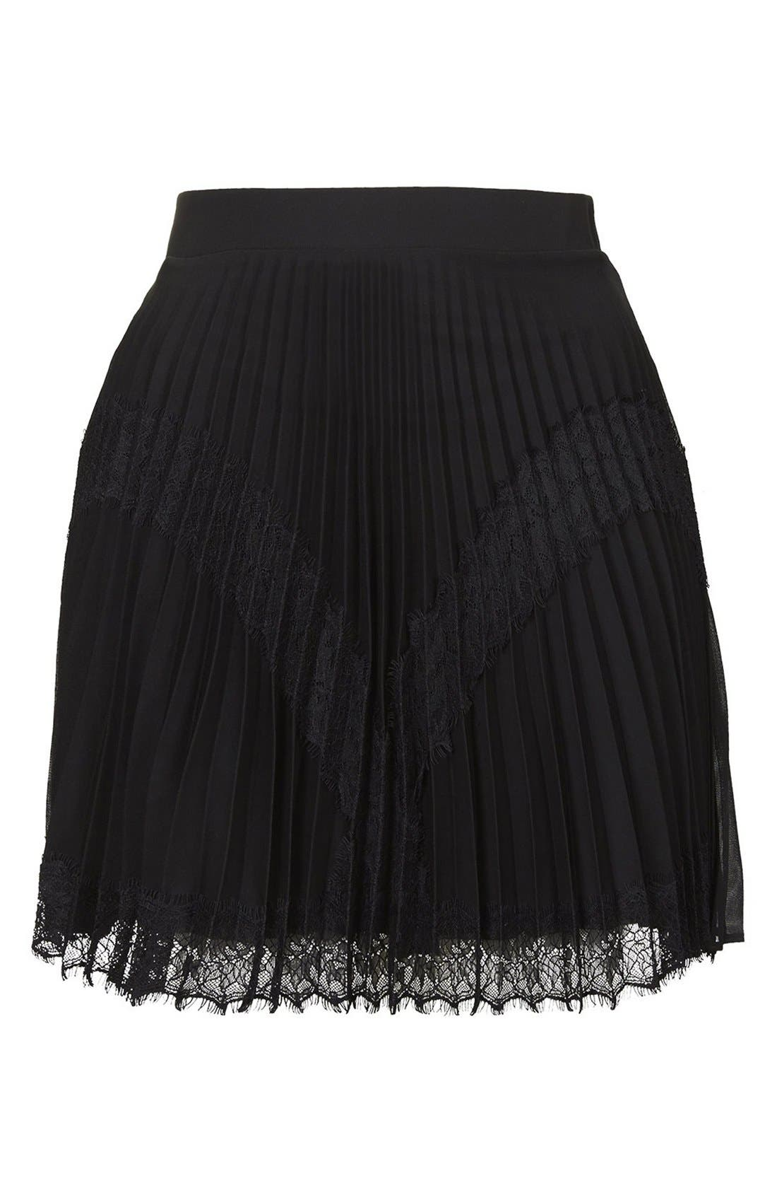 Alternate Image 3  - Topshop Pleat Eyelash Skirt