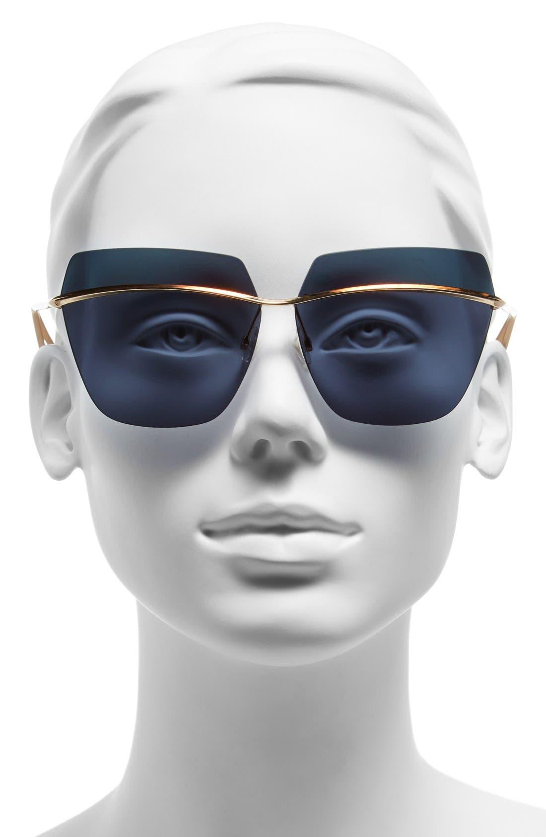 Alternate Image 2  - Dior 63mm Retro Metal Sunglasses