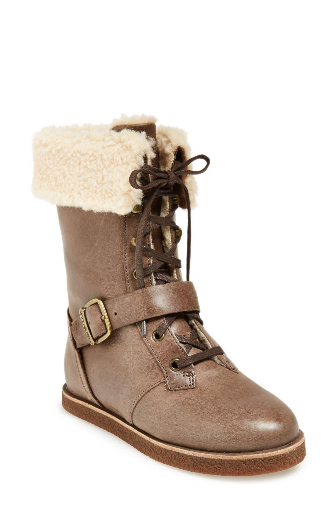 Alternate Image 1 Selected - Koolaburra 'Jovi' Lace-Up Moto Boot (Women)