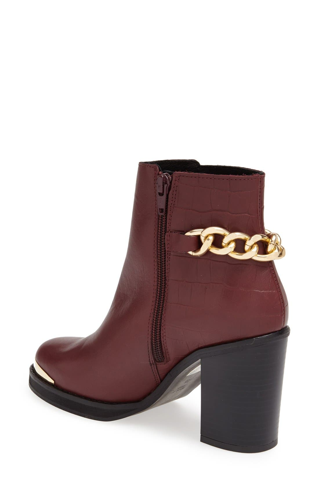 Alternate Image 2  - Topshop 'Merit' Chain Ankle Boot (Women)