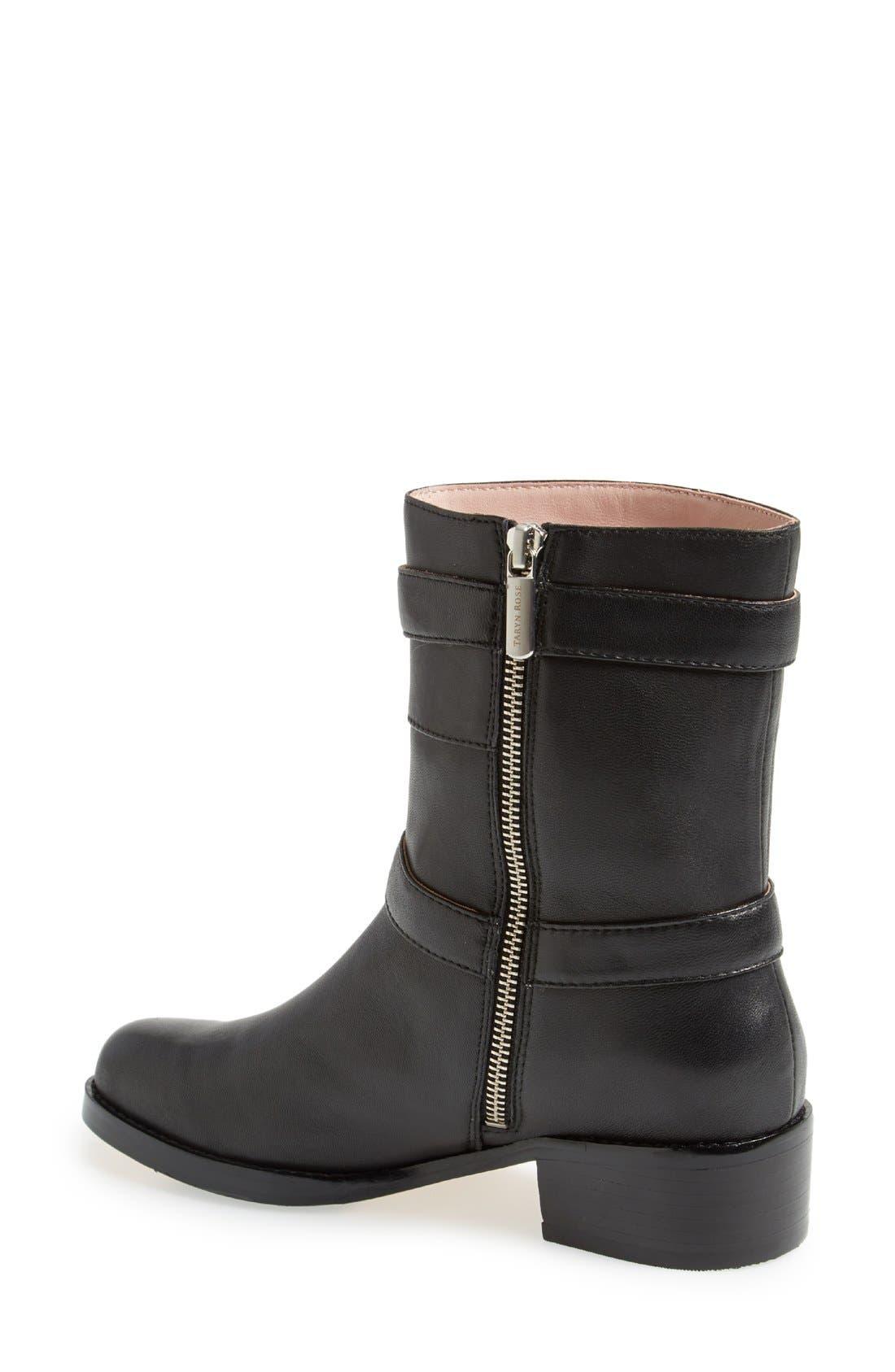Alternate Image 2  - Taryn Rose 'Sammie' Leather Moto Boot (Women)