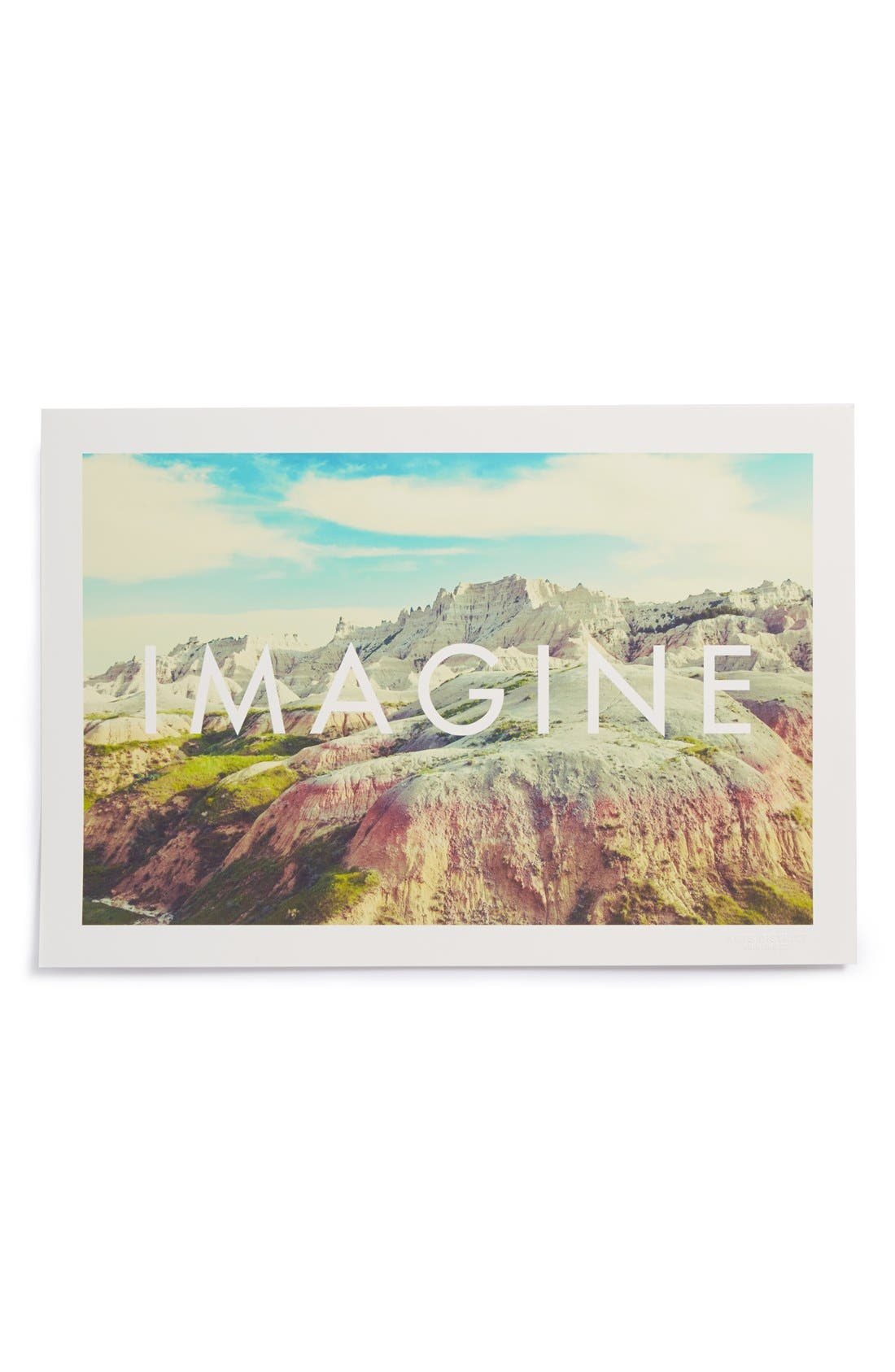 Alternate Image 1 Selected - Arts District Printing Co. 'Imagine' Print