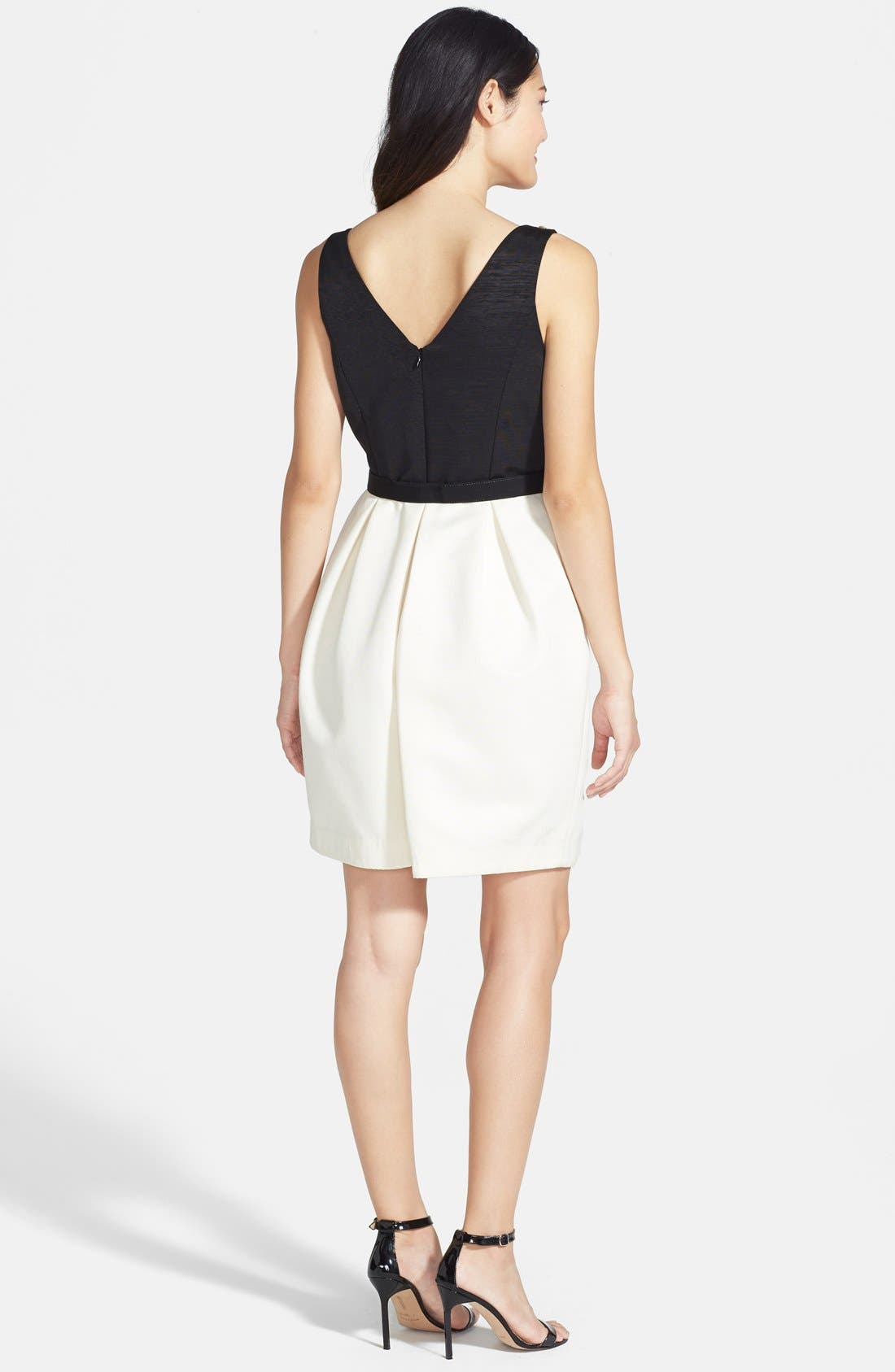 Alternate Image 2  - Eliza J Embellished Neck Colorblock Tulip Dress (Regular & Petite)