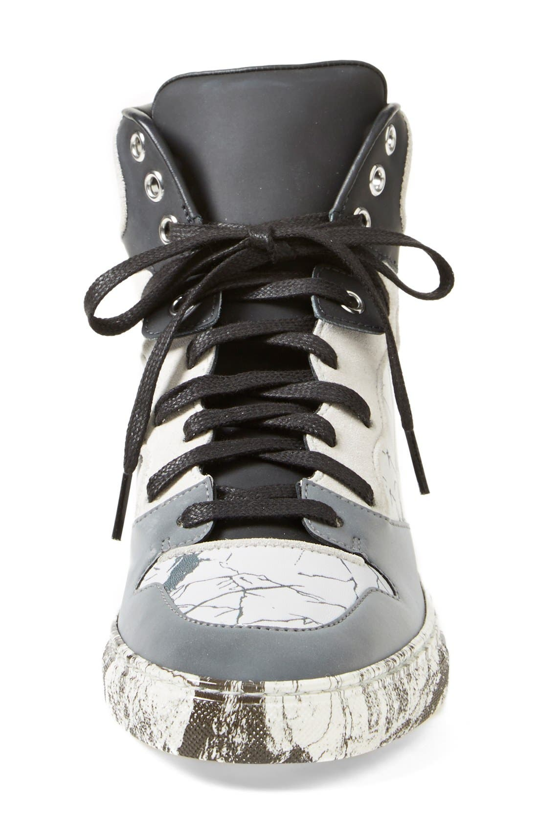Alternate Image 3  - Balenciaga Nappa Leather High Top Sneaker (Women)