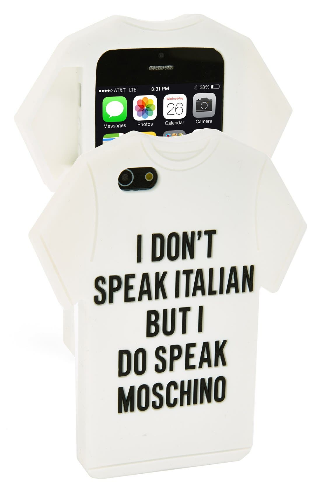 Alternate Image 1 Selected - Moschino T-Shirt iPhone 5 & 5s Case