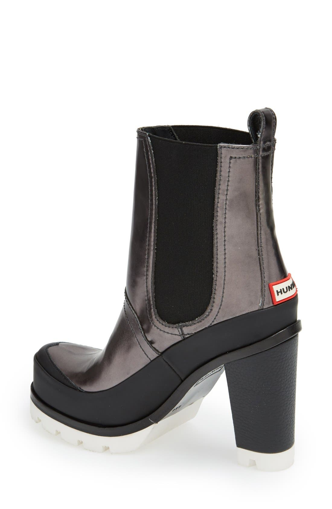 Alternate Image 2  - Hunter 'Original - High Heel' Chelsea Rain Boot (Women)