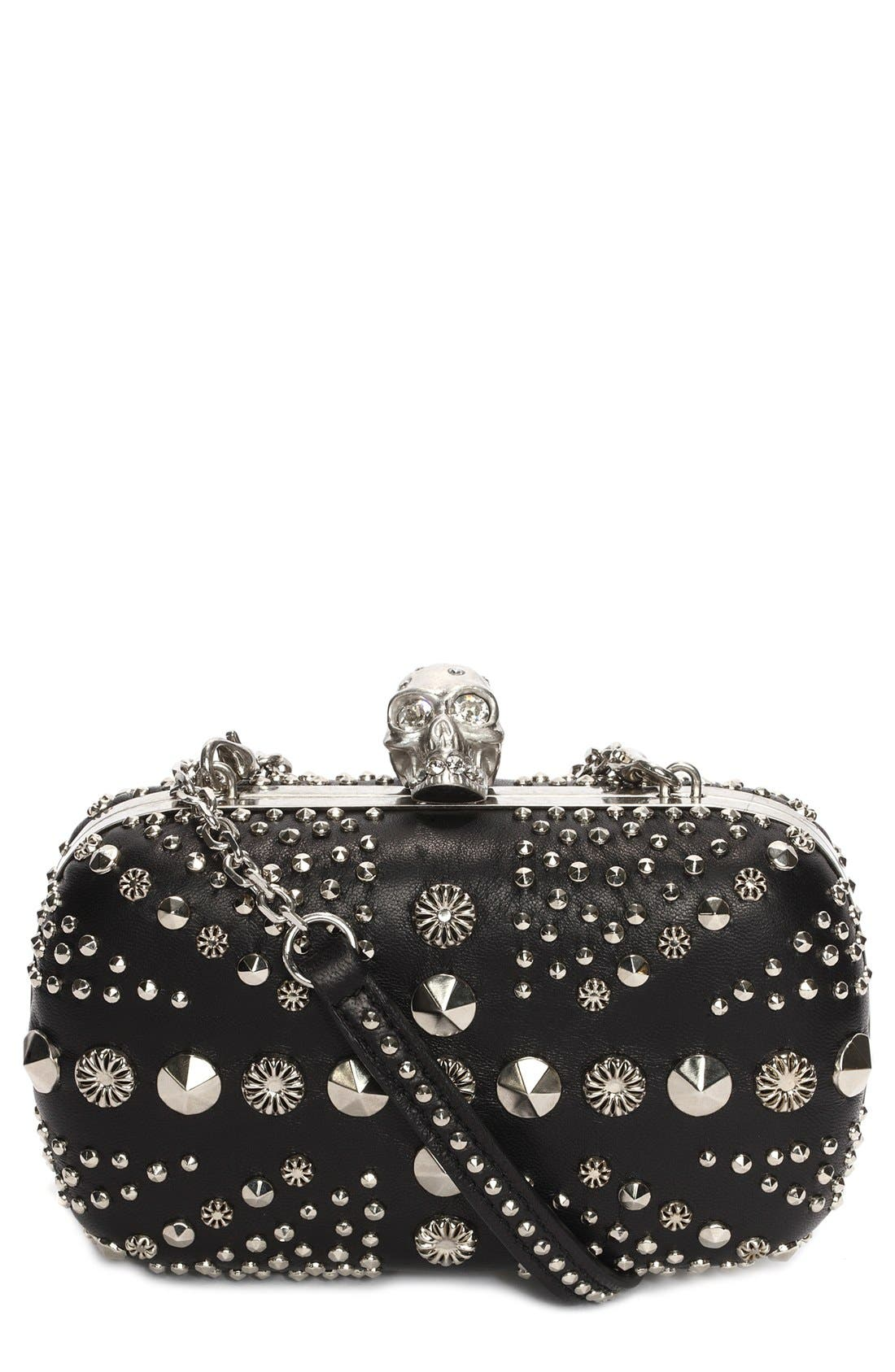Alternate Image 1 Selected - Alexander McQueen Studded Box Clutch