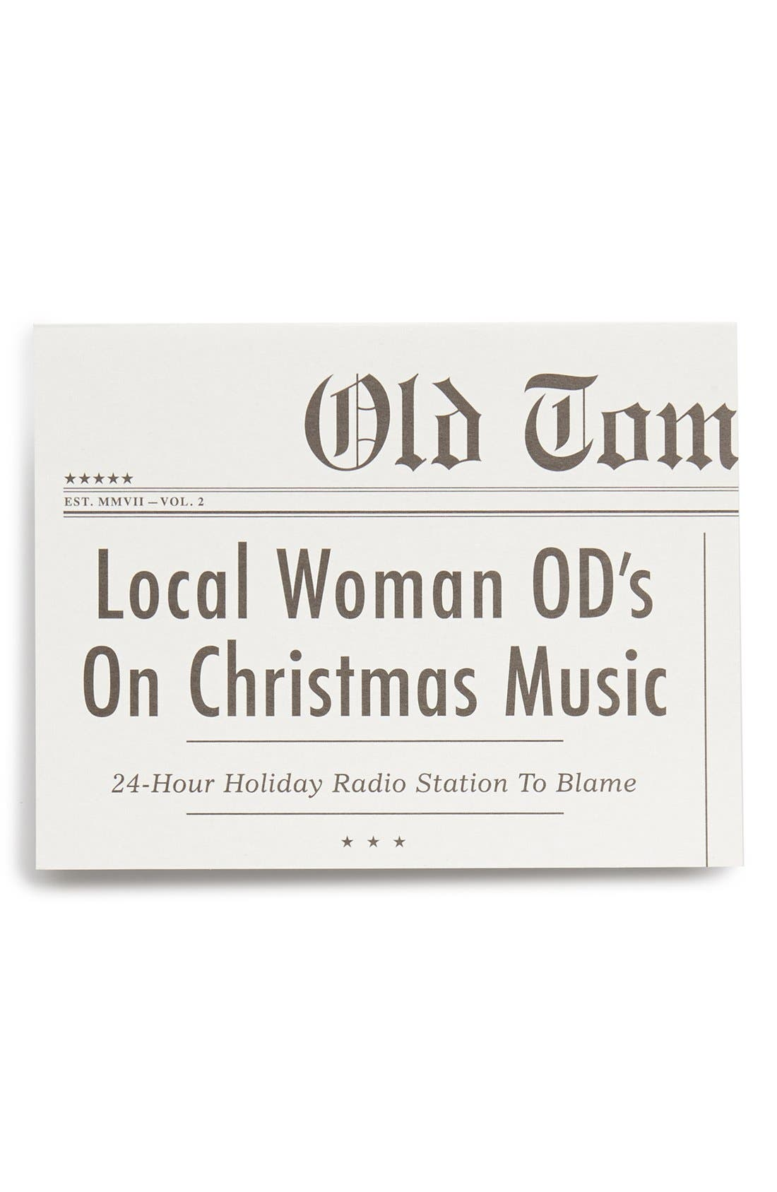 Alternate Image 1 Selected - Old Tom Foolery 'Christmas Music' Card