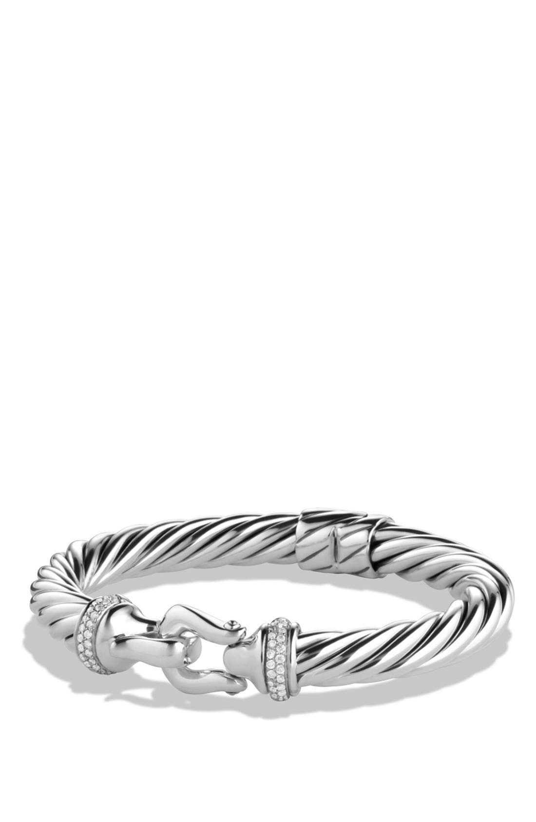 DAVID YURMAN 'Buckle Cable' Bracelet with Diamonds