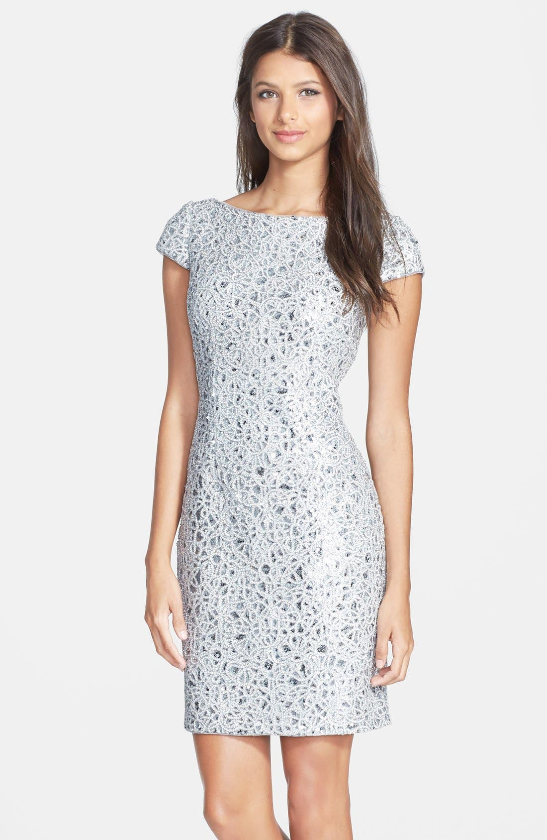 Main Image - Hailey by Adrianna Papell Sequin Lace Sheath Dress