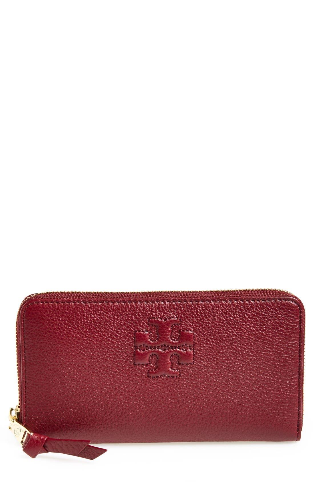 Alternate Image 1 Selected - Tory Burch 'Thea' Zip Around Wallet