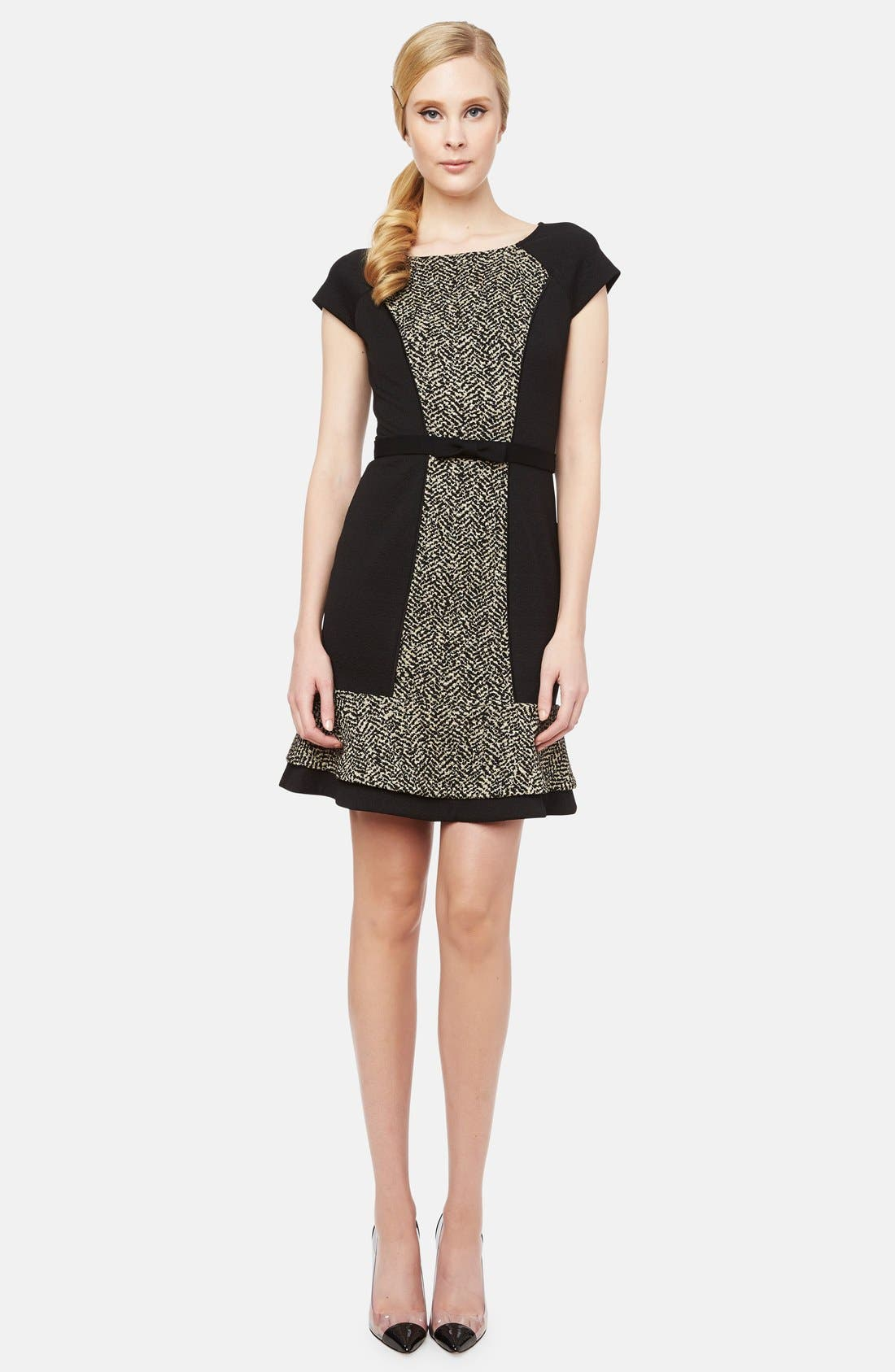 Main Image - ERIN erin fetherston 'Liza' Belted Jacquard Fit & Flare Dress