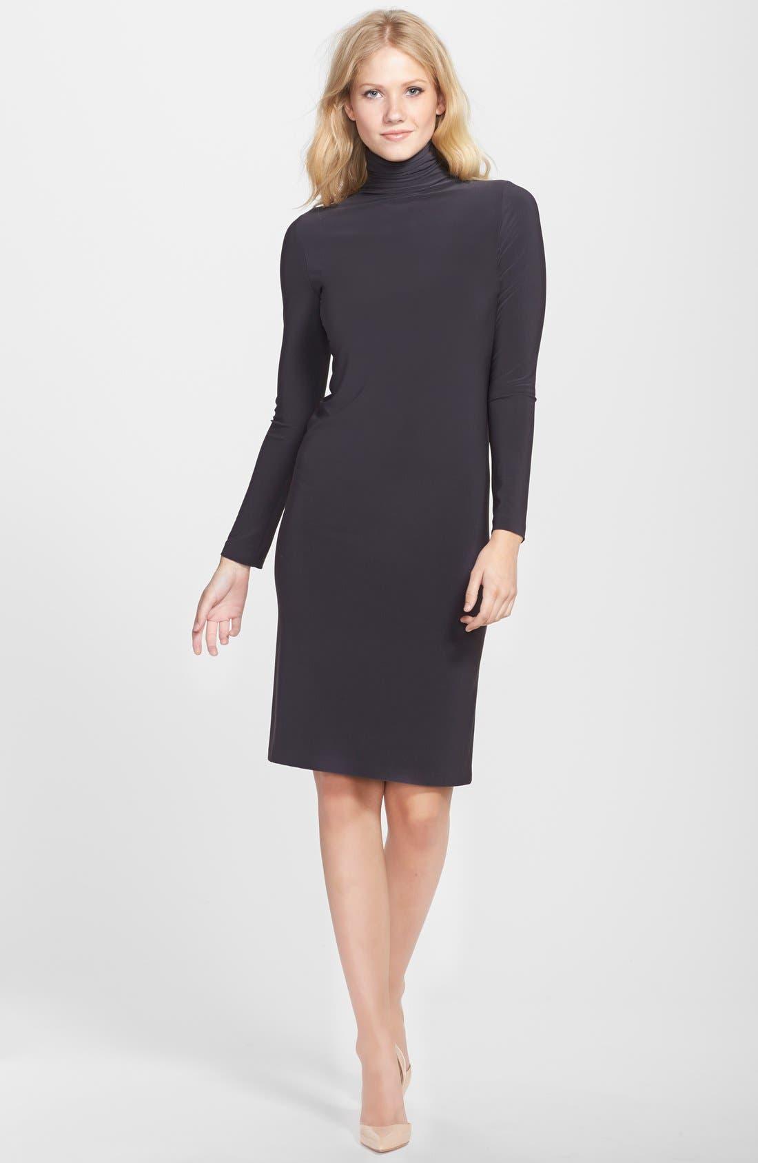 Alternate Image 4  - KAMALIKULTURE Turtleneck Jersey Shift Dress
