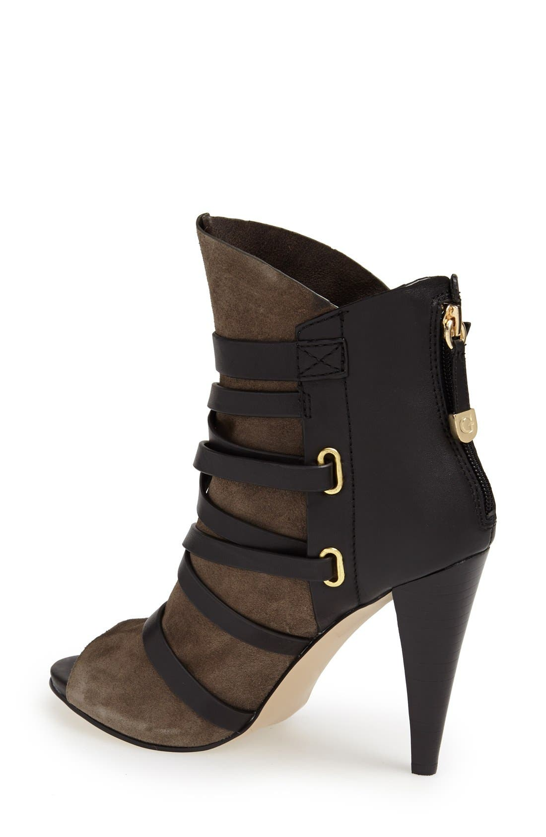 Alternate Image 2  - Guess 'Candie' Peep Toe Leather Bootie (Women)