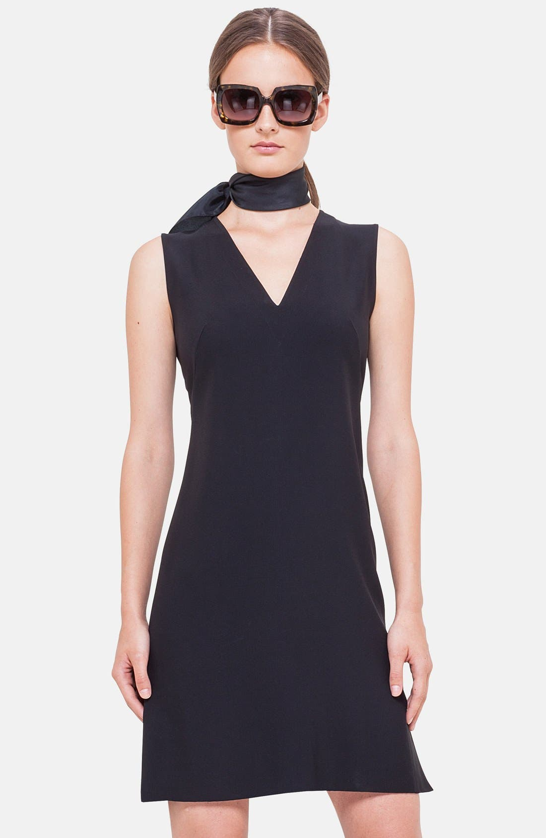 Alternate Image 3  - Akris punto Flounce Hem Sleeveless Dress