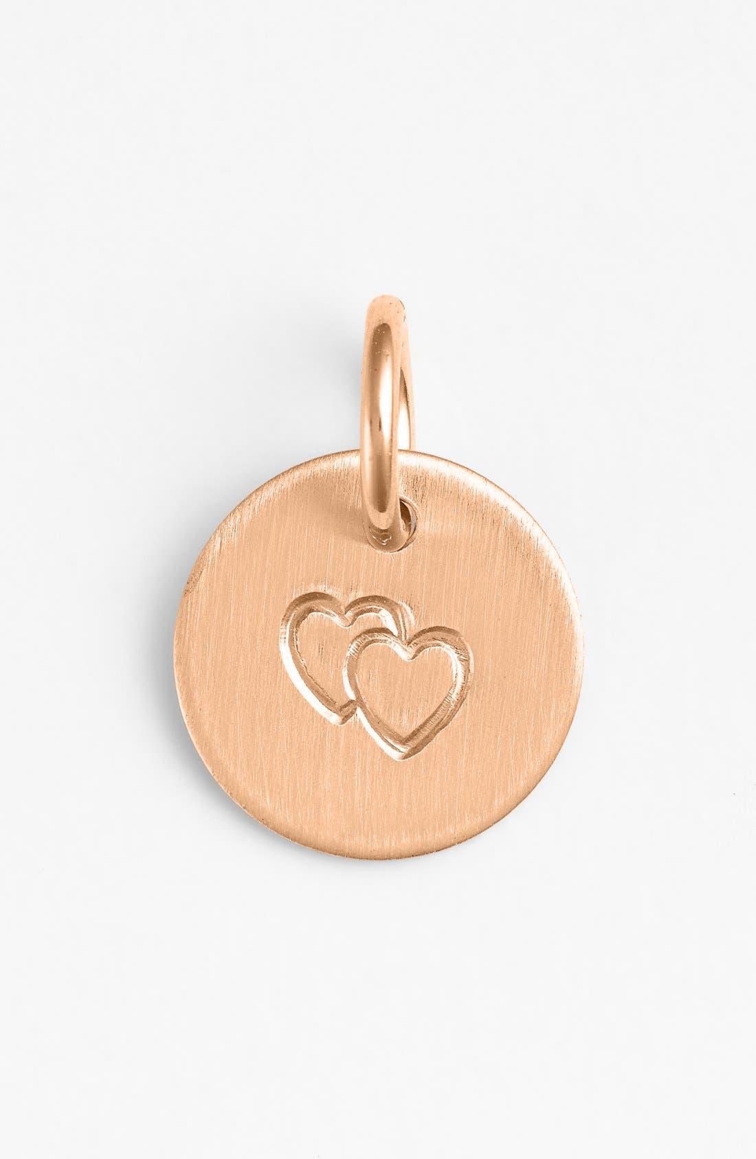 Main Image - Nashelle Double Heart Mini Stamp Charm