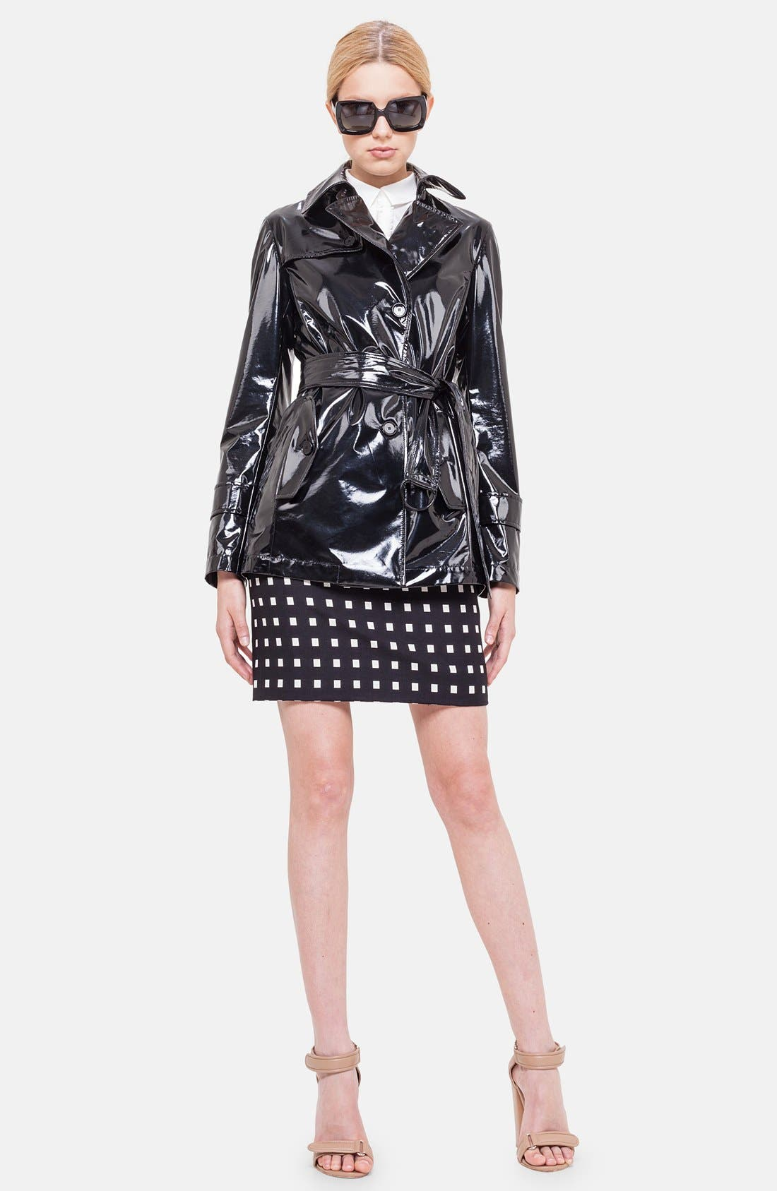 Alternate Image 1 Selected - Akris punto Lacquered Trench Coat