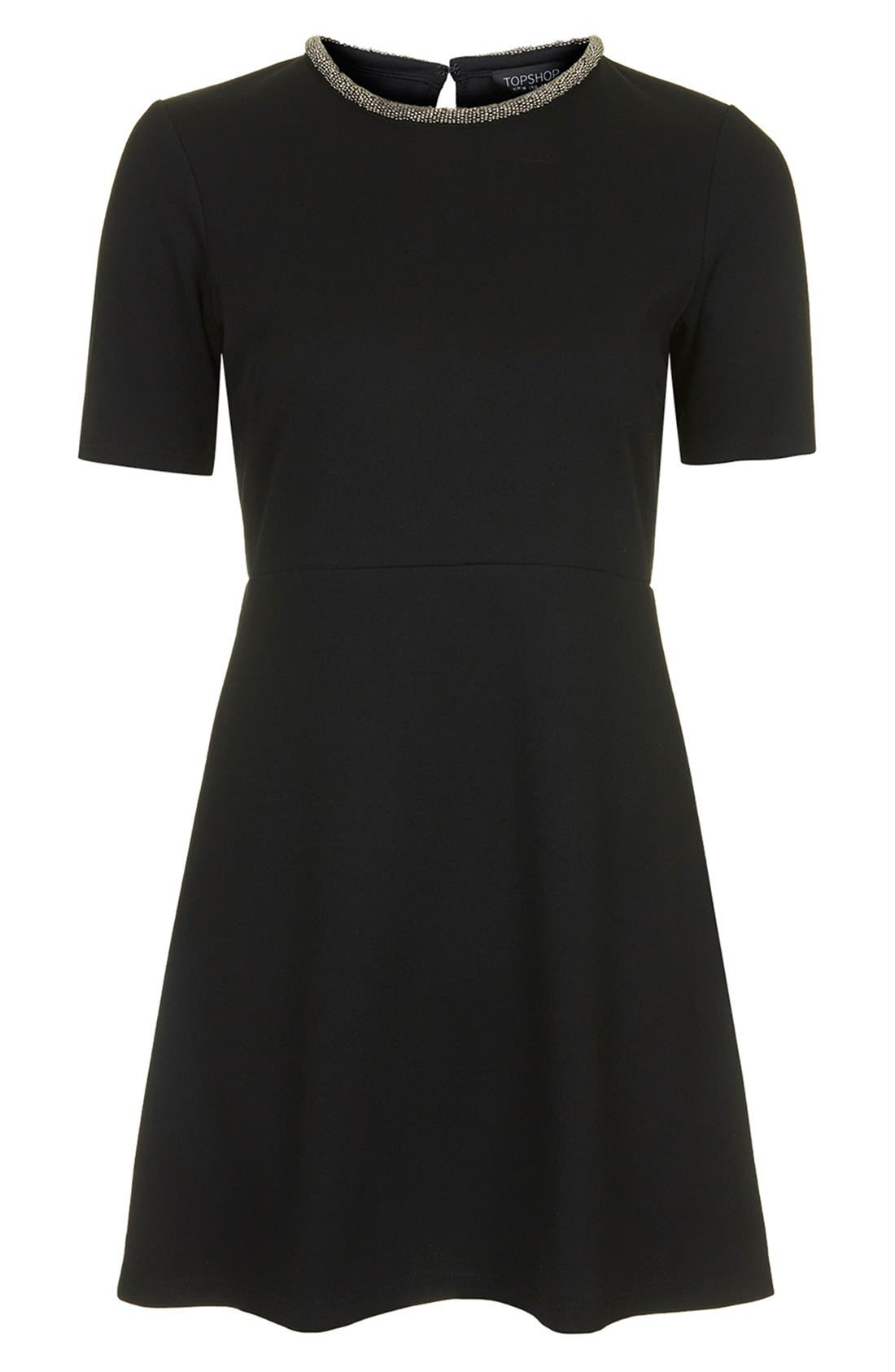 Alternate Image 5  - Topshop Embellished Skater Dress