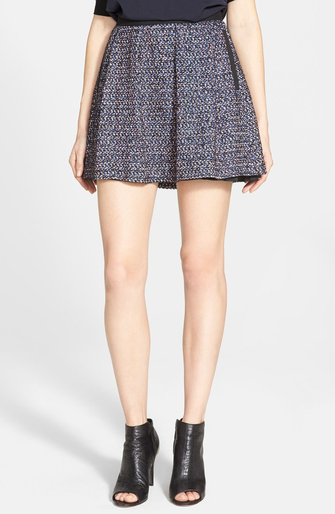 Main Image - French Connection 'Malik' Tweed Skater Skirt (Online Only)